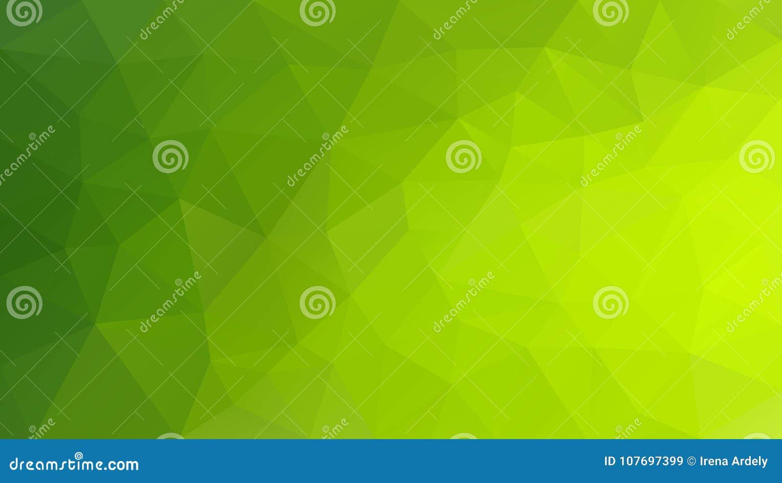 导航不规则的多角形背景-三角低多样式-充满活力的聚焦绿色