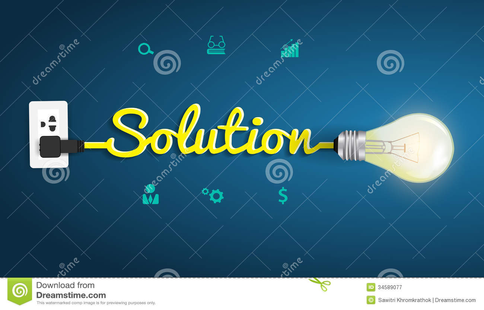 导航与创造性的电灯泡的解答概念我