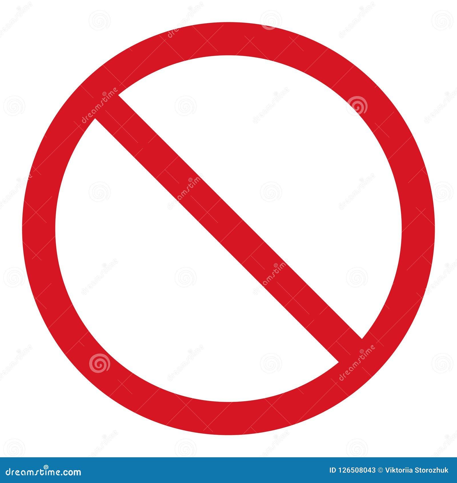 导航中止象,被禁止的段落,停车牌象,在白色背景,红色中止商标,禁止标志的没有词条标志
