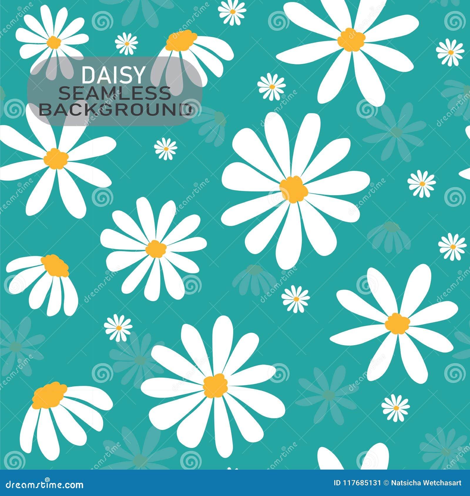 导航乱画戴西在淡色薄荷的绿色背景,无缝的背景的花纹花样