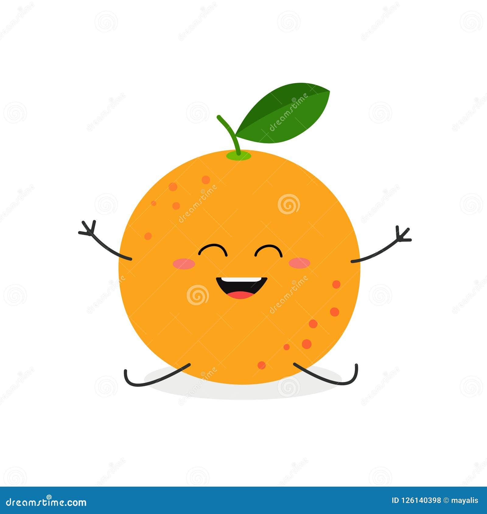 导航在白色背景隔绝的愉快的动画片葡萄柚的例证