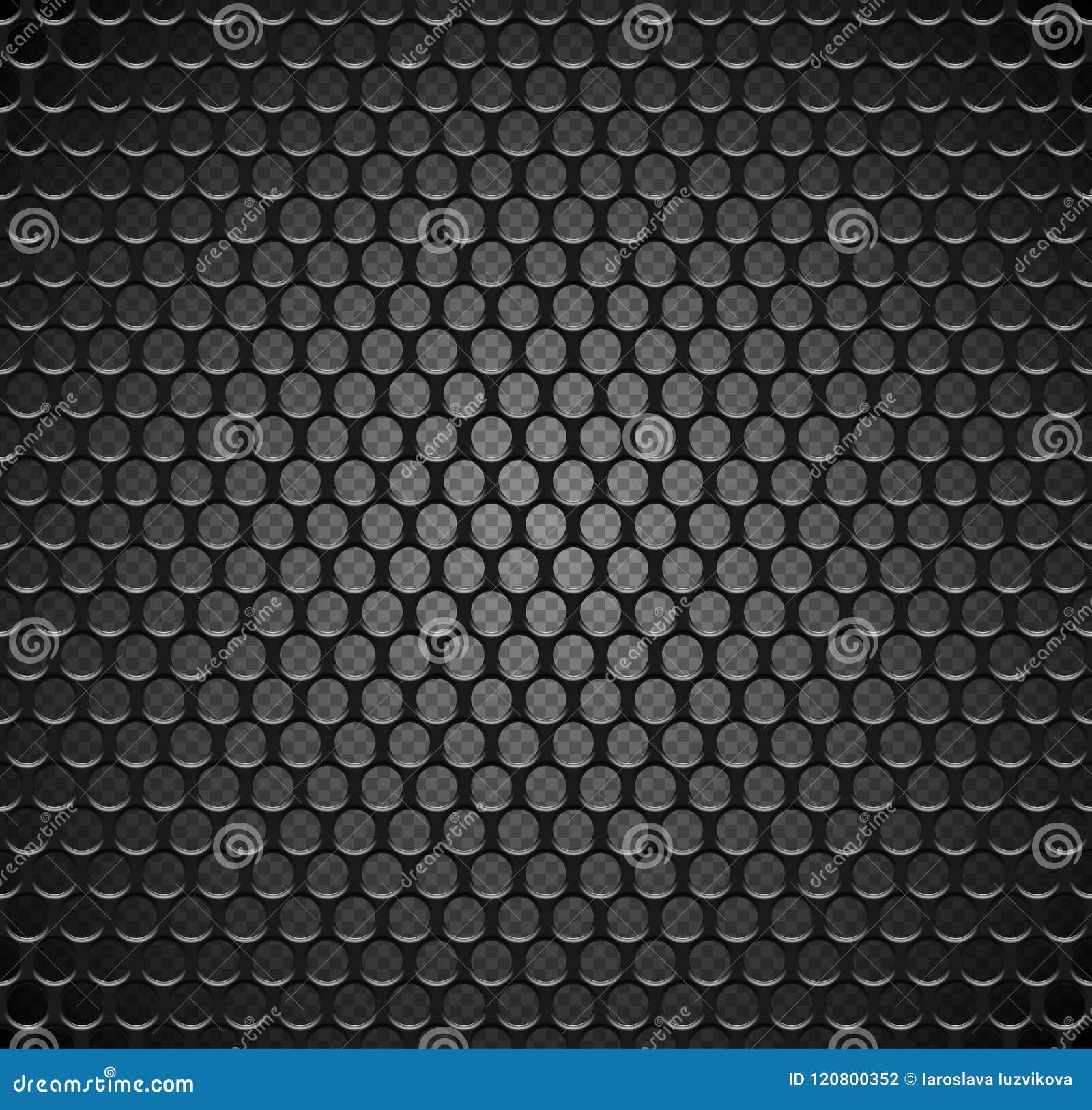 导航在透明背景的金属栅格无缝的样式 黑铁报告人格栅不尽的纹理 网页积土