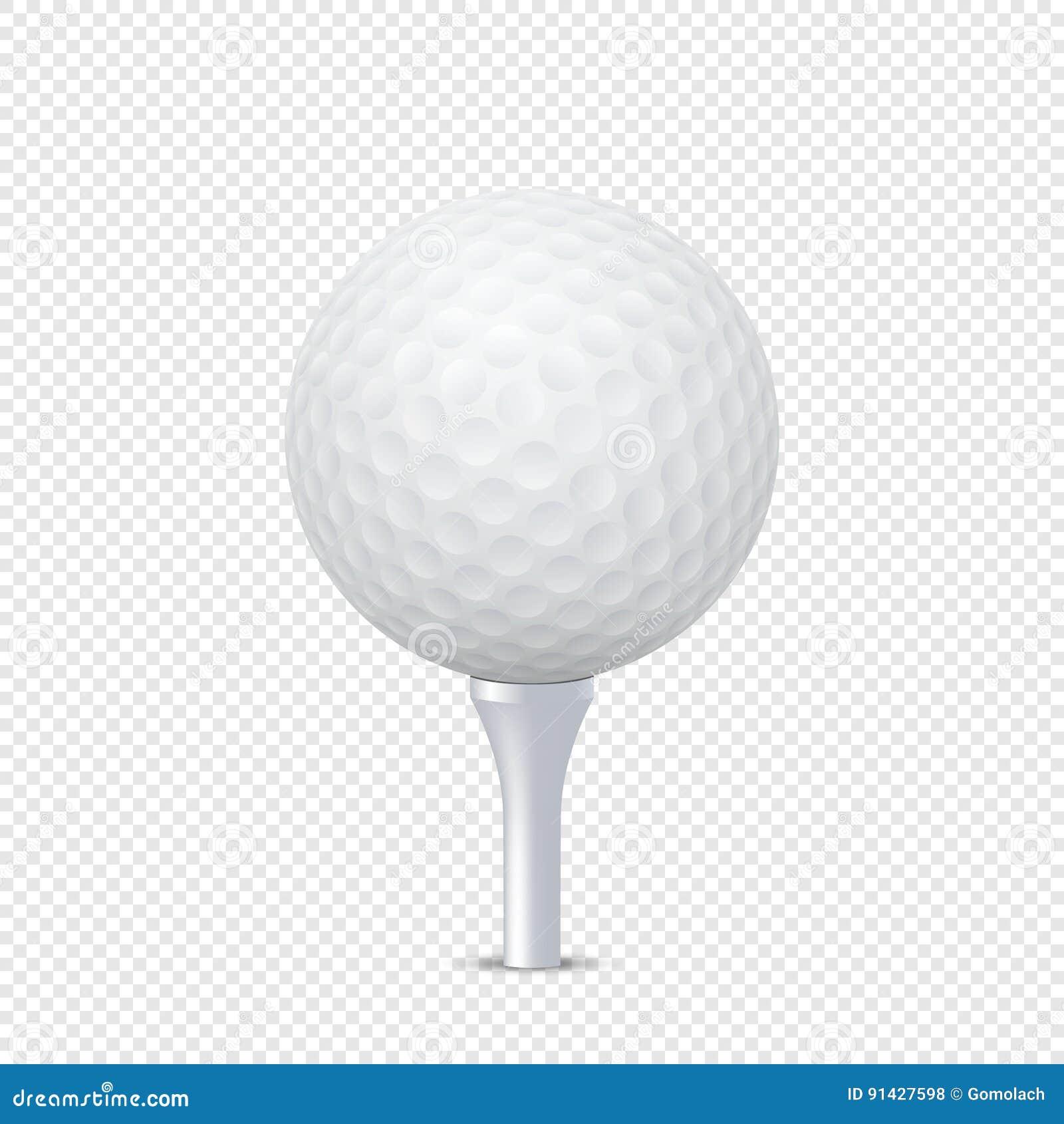导航在-被隔绝的发球区域的白色现实高尔夫球模板 在EPS10的设计模板