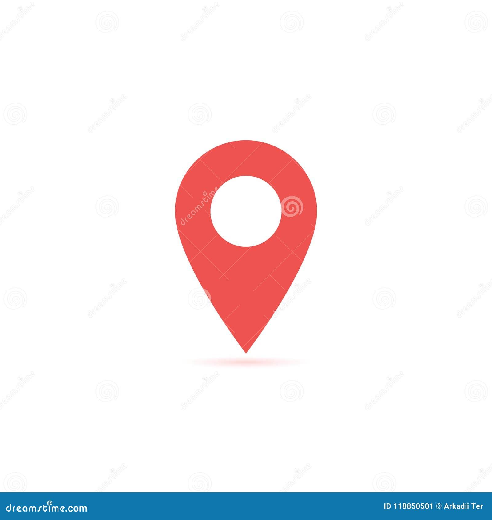 导航地图地点象隔绝与软的阴影 设计ui app网站接口的元素 空白模板 安置别针