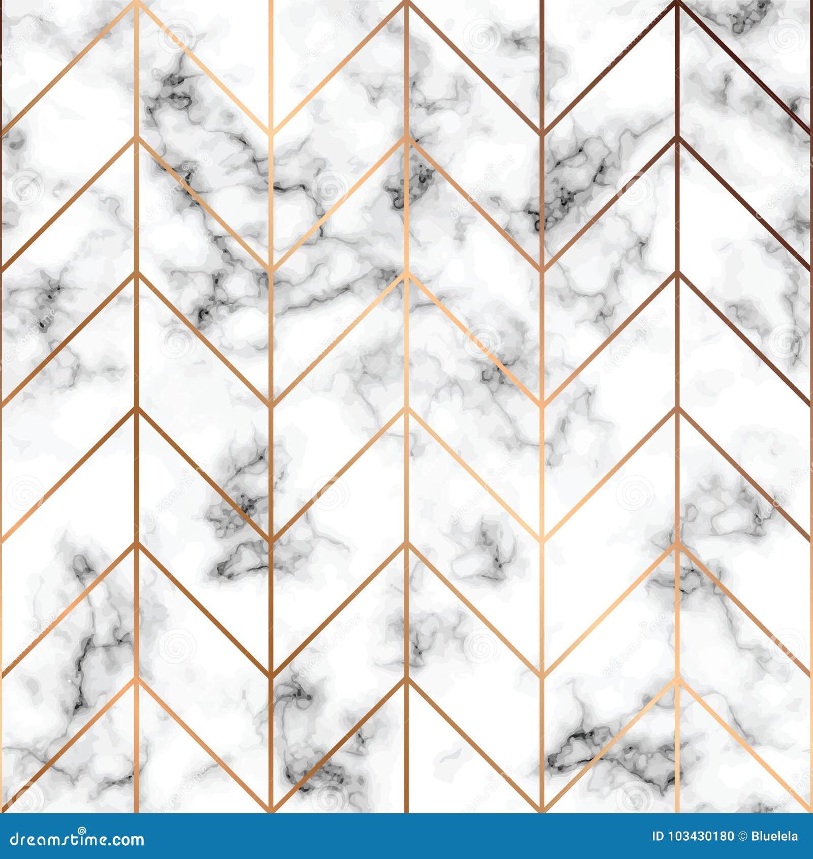 导航大理石纹理,与金黄几何线的无缝的样式设计,黑白使有大理石花纹的表面,现代豪华