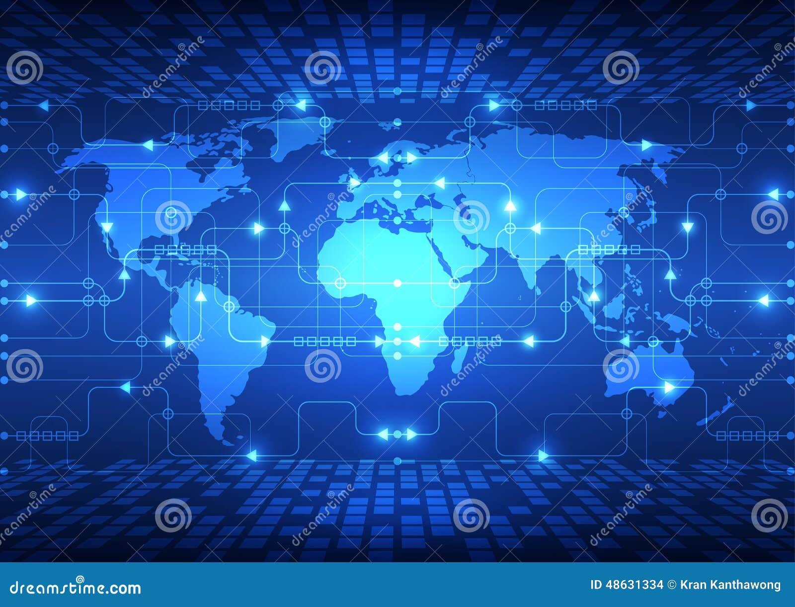 导航抽象全球性未来技术,电电信背景