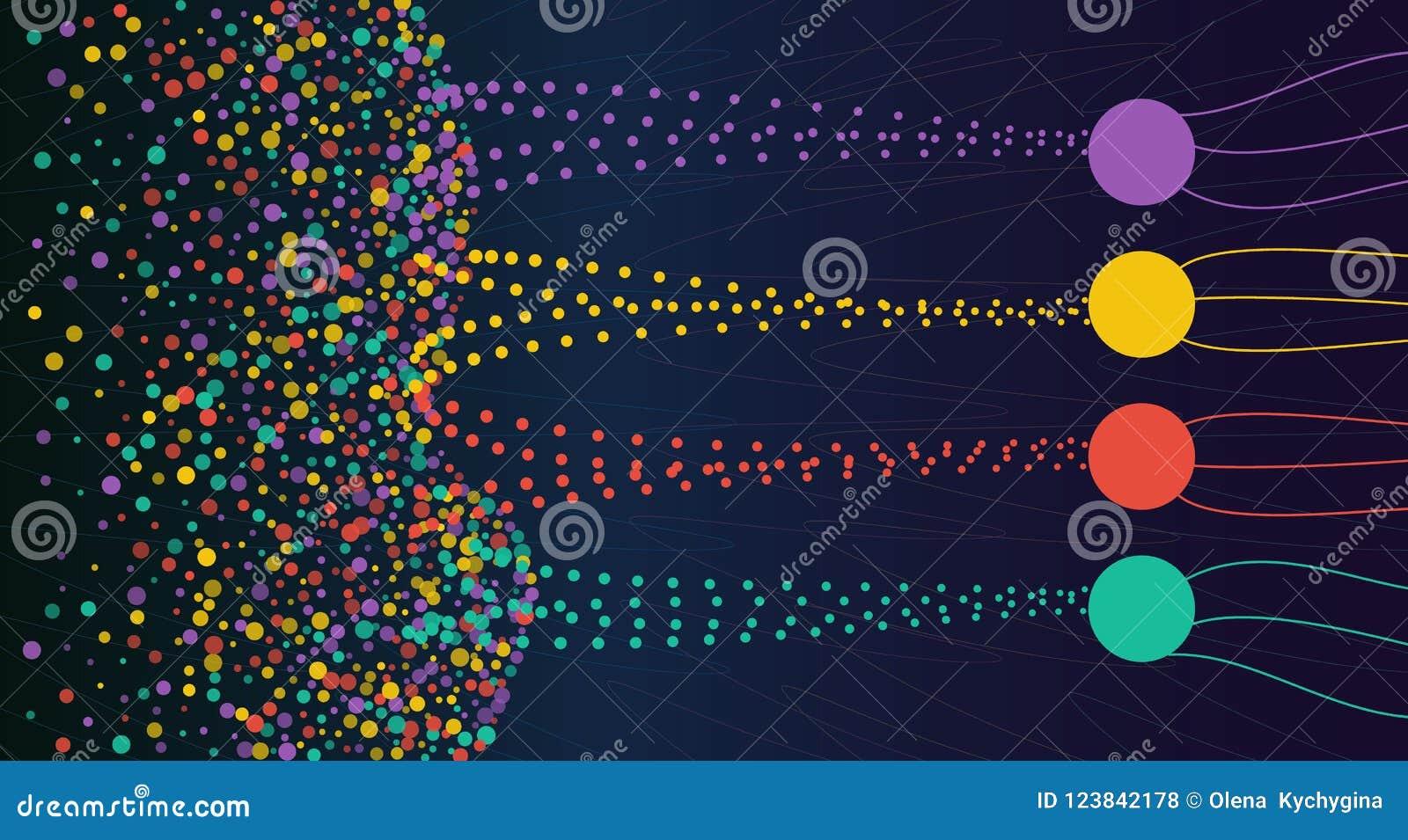 导航排序形象化的抽象五颜六色的大数据信息