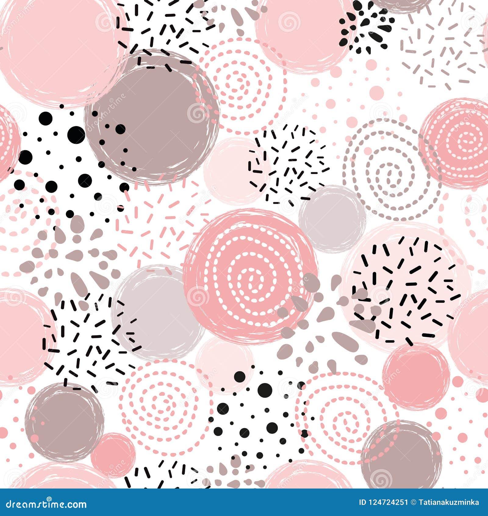 导航无缝的样式圆点摘要装饰品装饰的桃红色,黑手拉的圆形背景