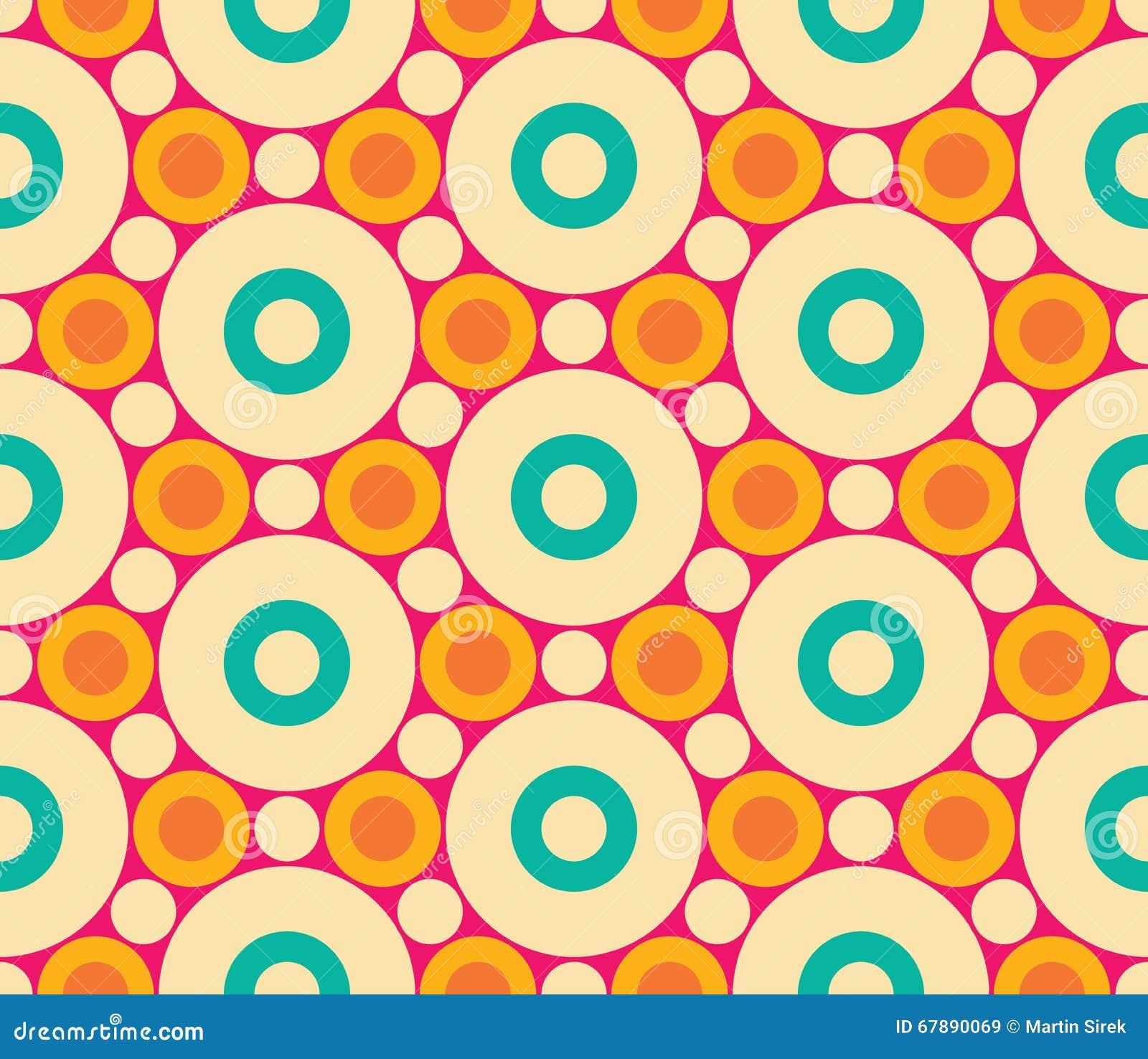 导航现代无缝的五颜六色的几何圈子样式,颜色摘要