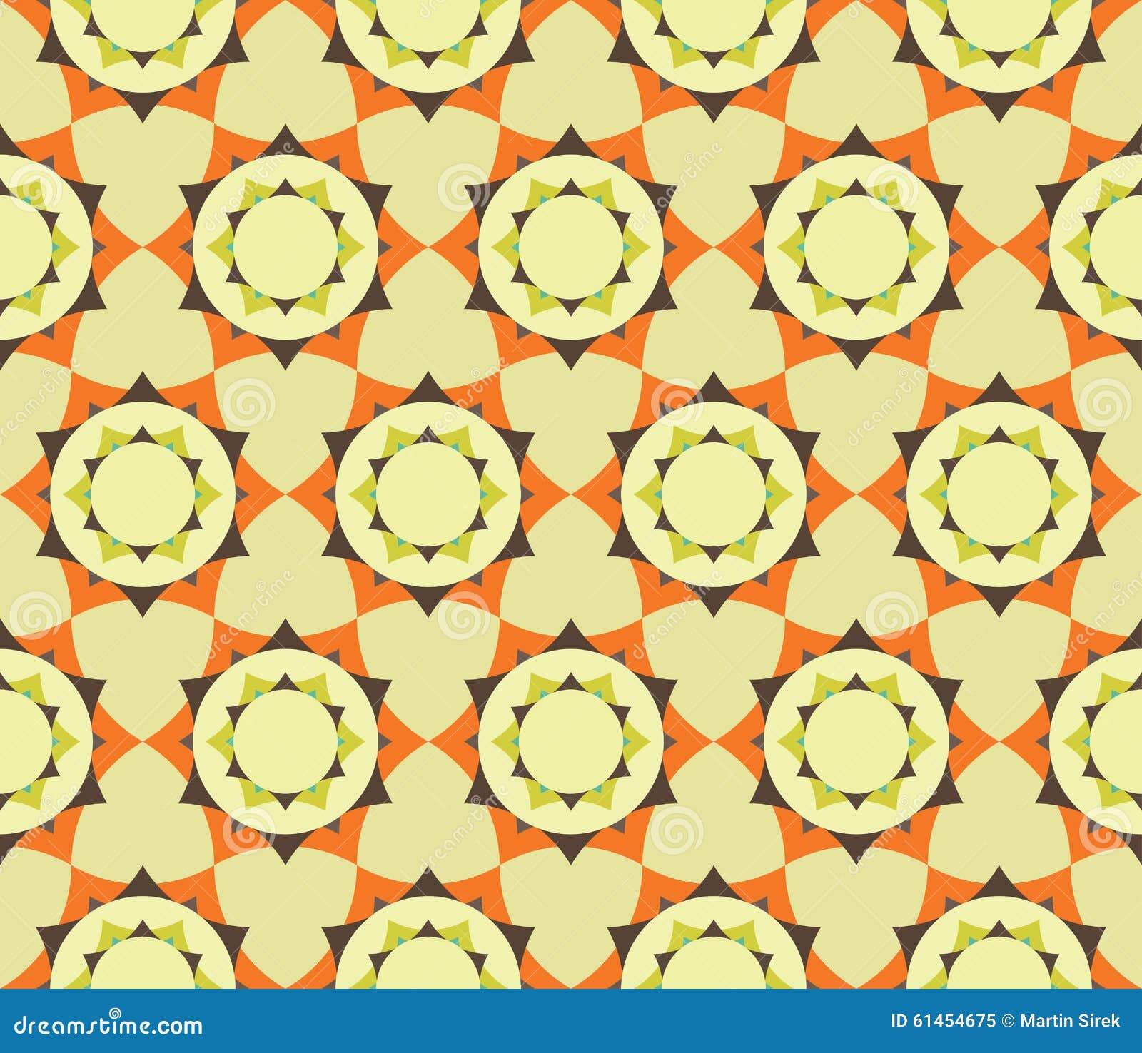导航现代无缝的五颜六色的几何瓣花坛场样式,颜色摘要
