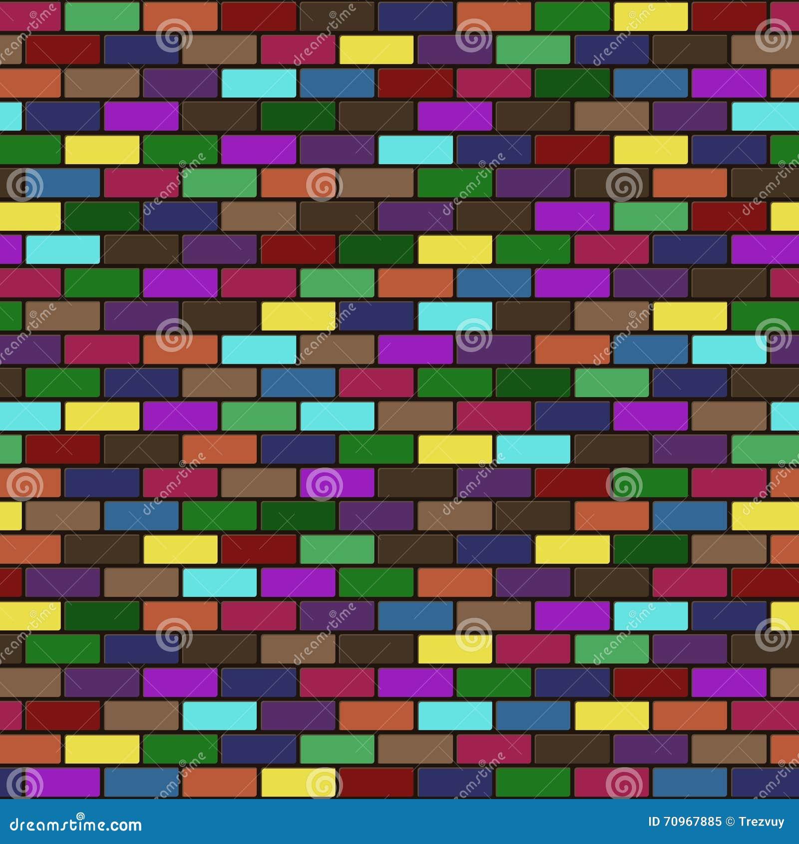 导航现代无缝的五颜六色的砖墙背景纹理