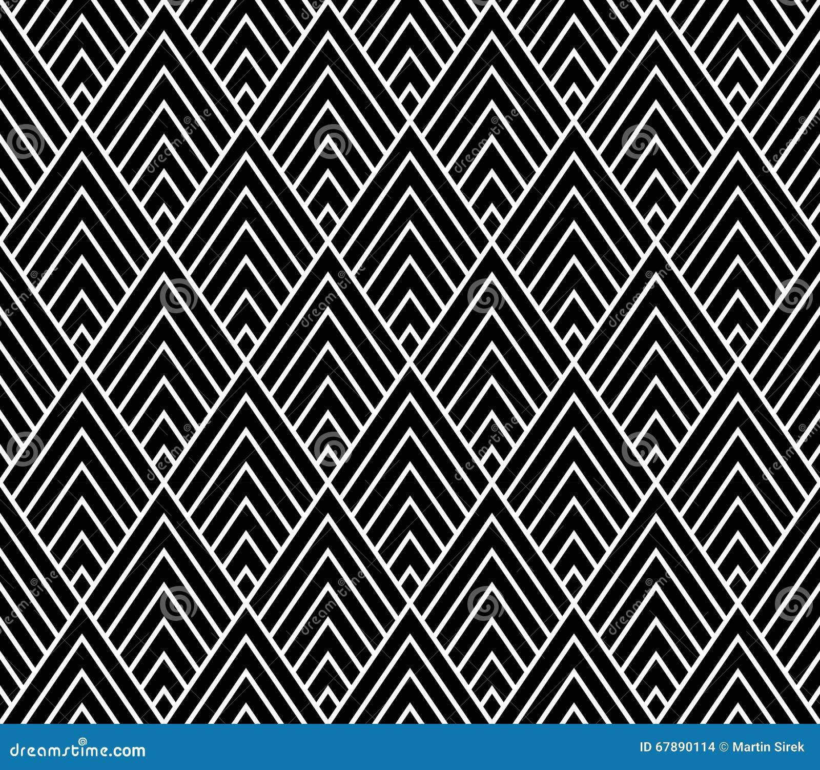 导航现代无缝的几何样式三角,黑白摘要