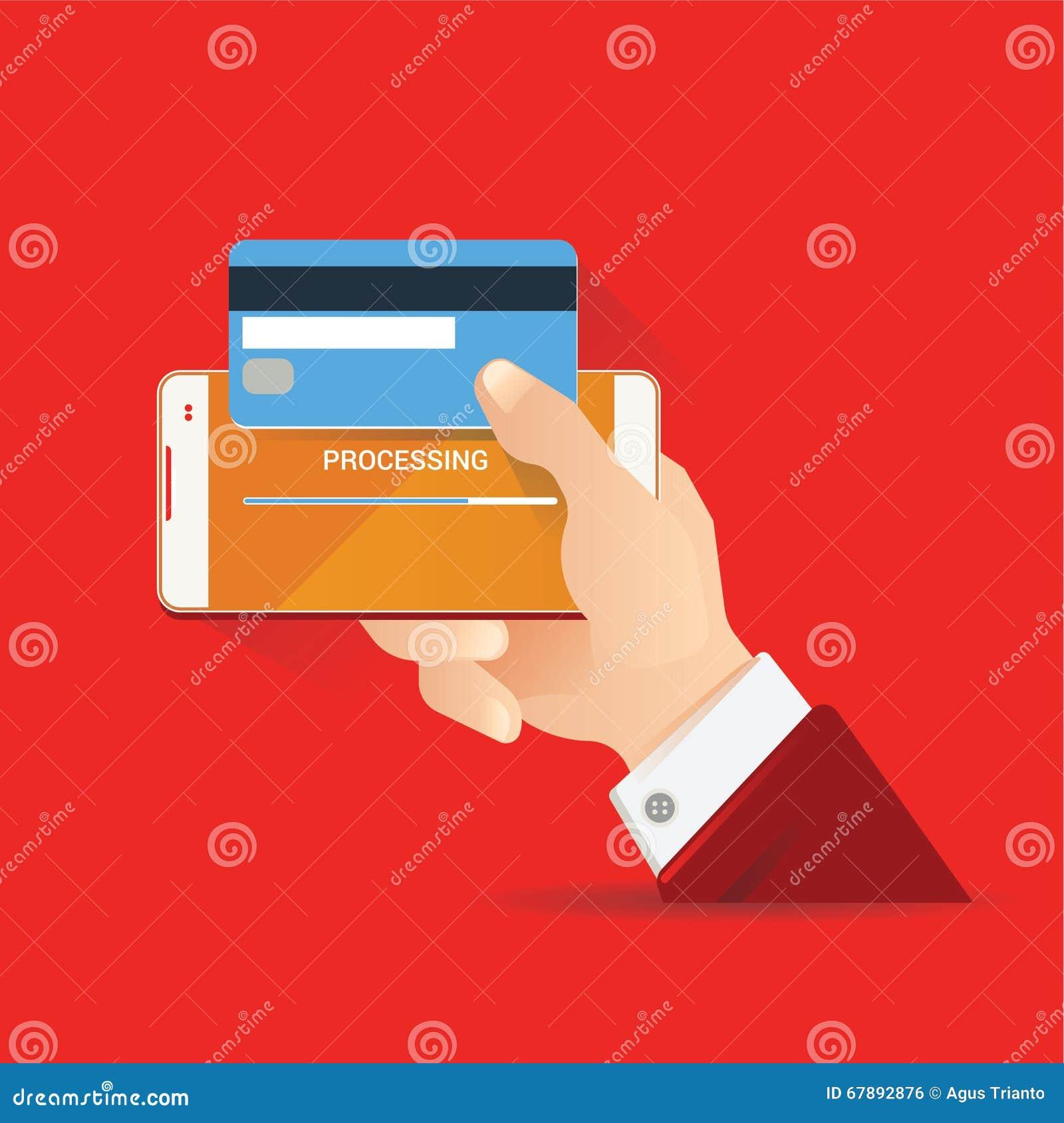 导航金钱交易的,技术,事务,流动银行业务例证