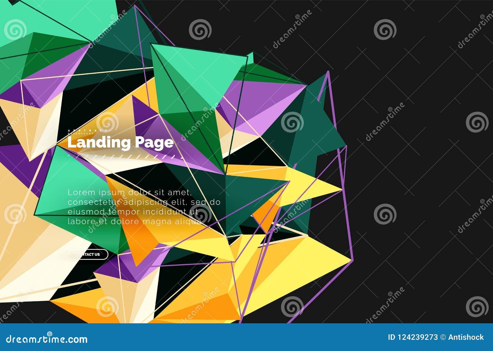 导航3d三角摘要背景,多角形几何设计