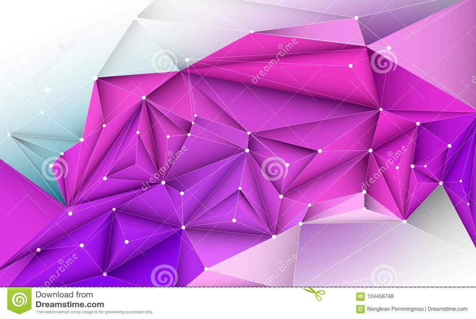 导航3D几何的例证,多角形,线,三角样式