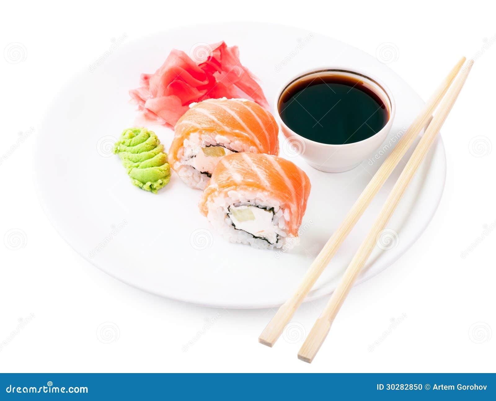在板材的寿司
