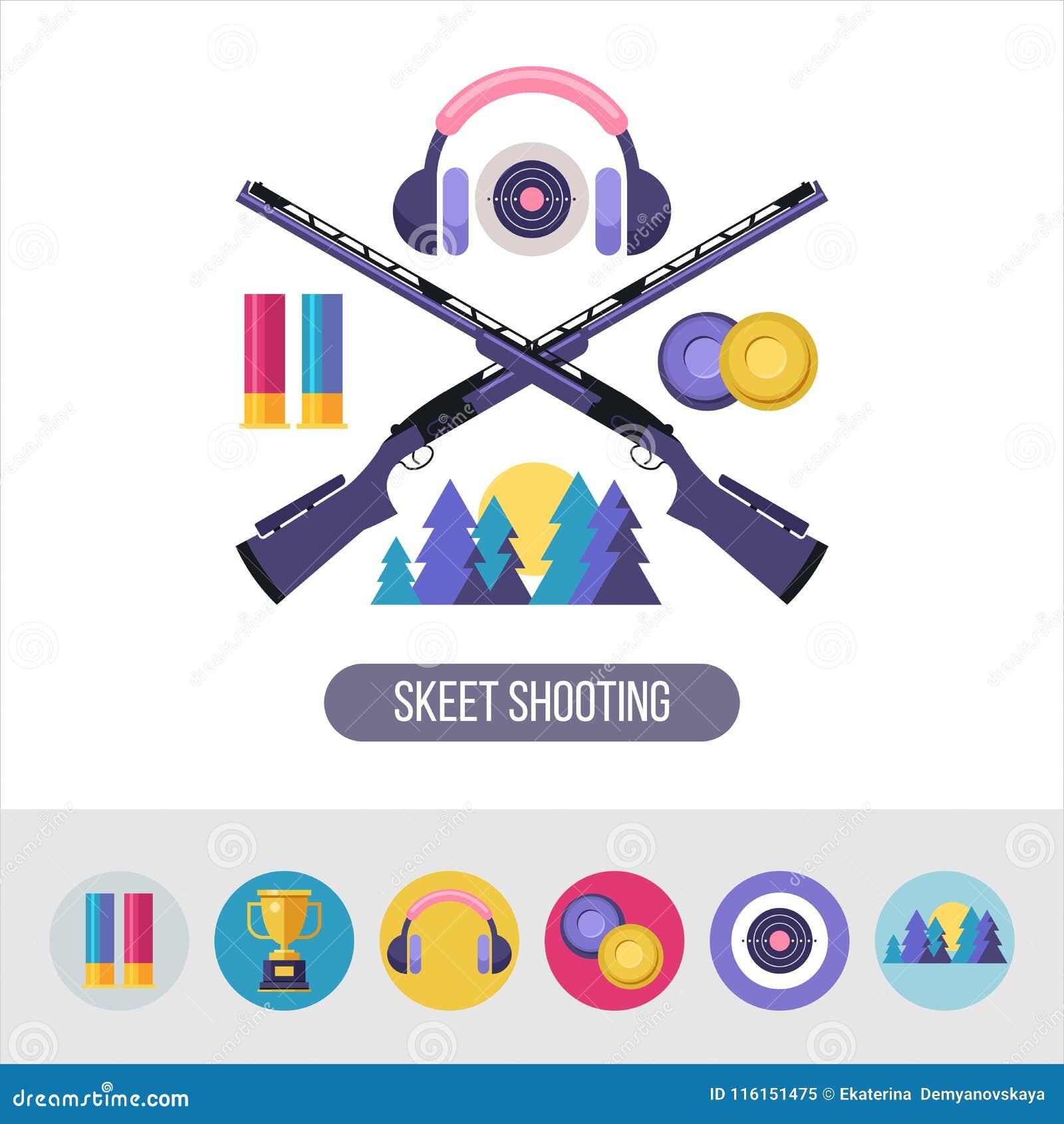 射击长柄水杓 8个象征eps查出的向量白色 设计元素集 圆的ico