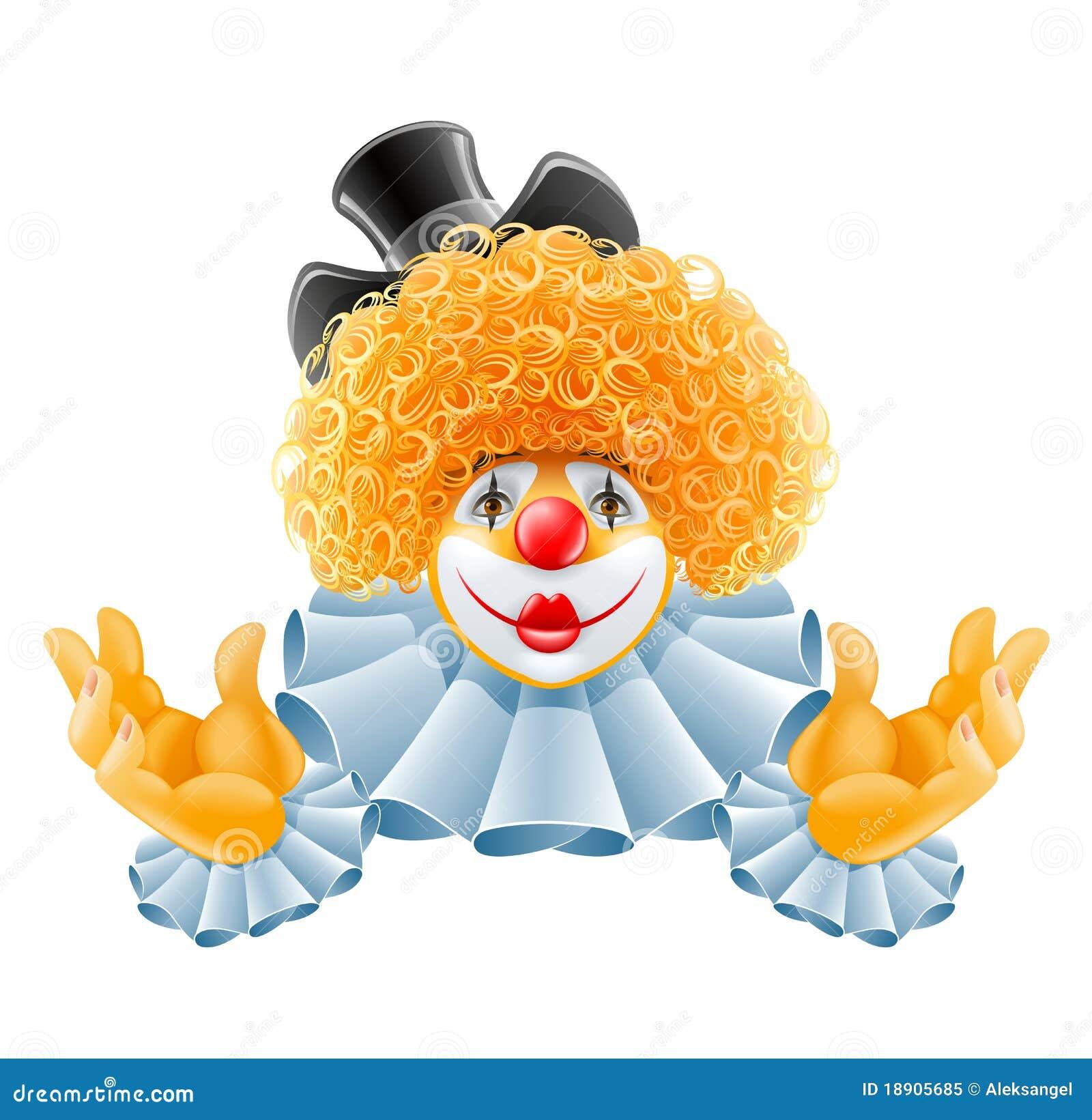 小丑头发红色微笑