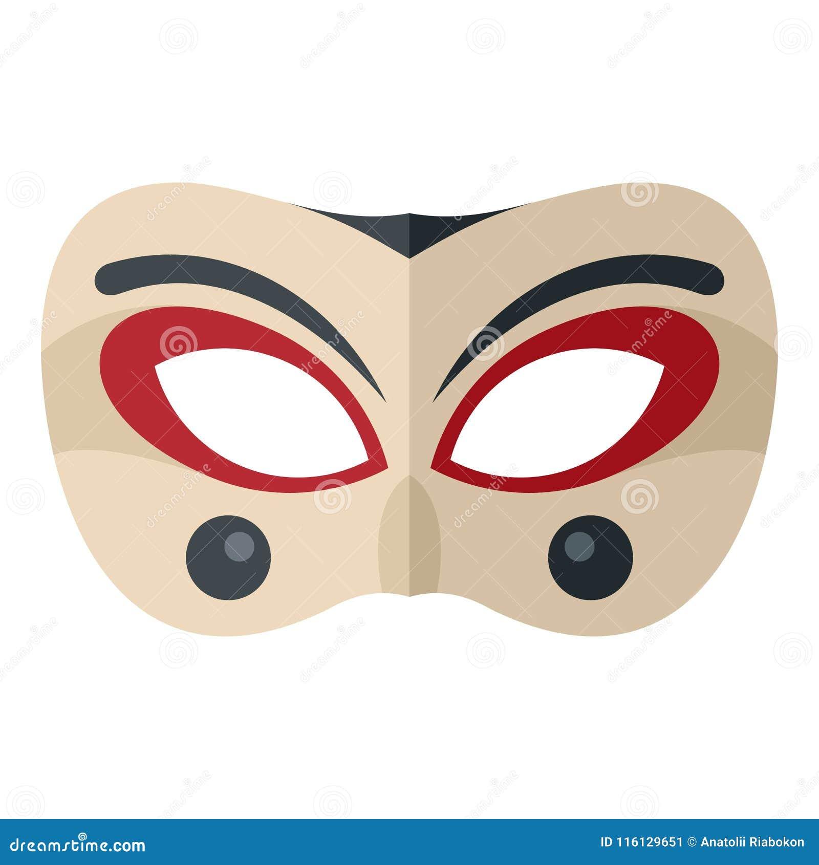 小丑面具象,平的样式