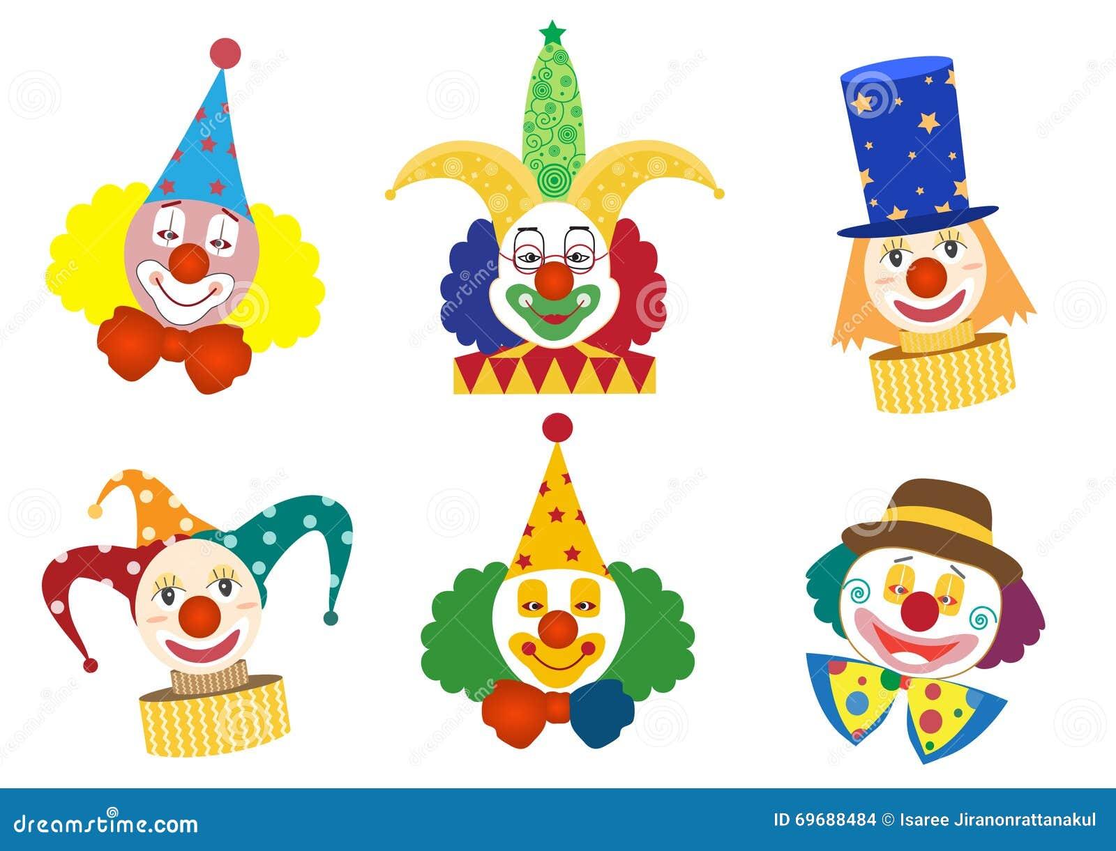 小丑面孔集合,马戏,传染媒介.