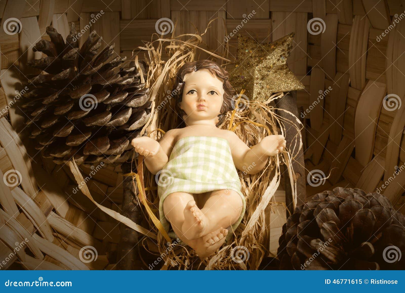 小儿床圣诞卡的小耶稣