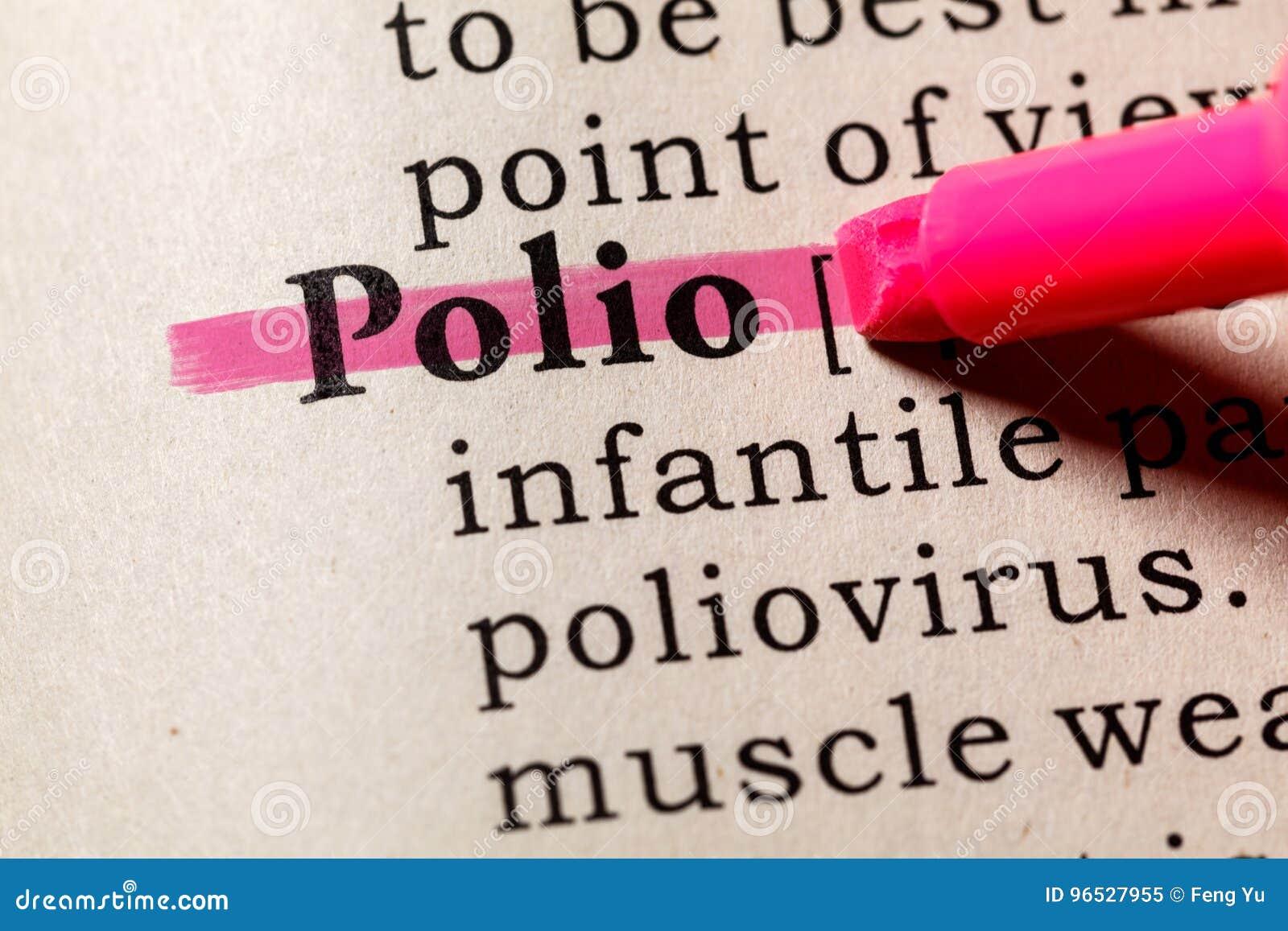 小儿麻痹症的定义