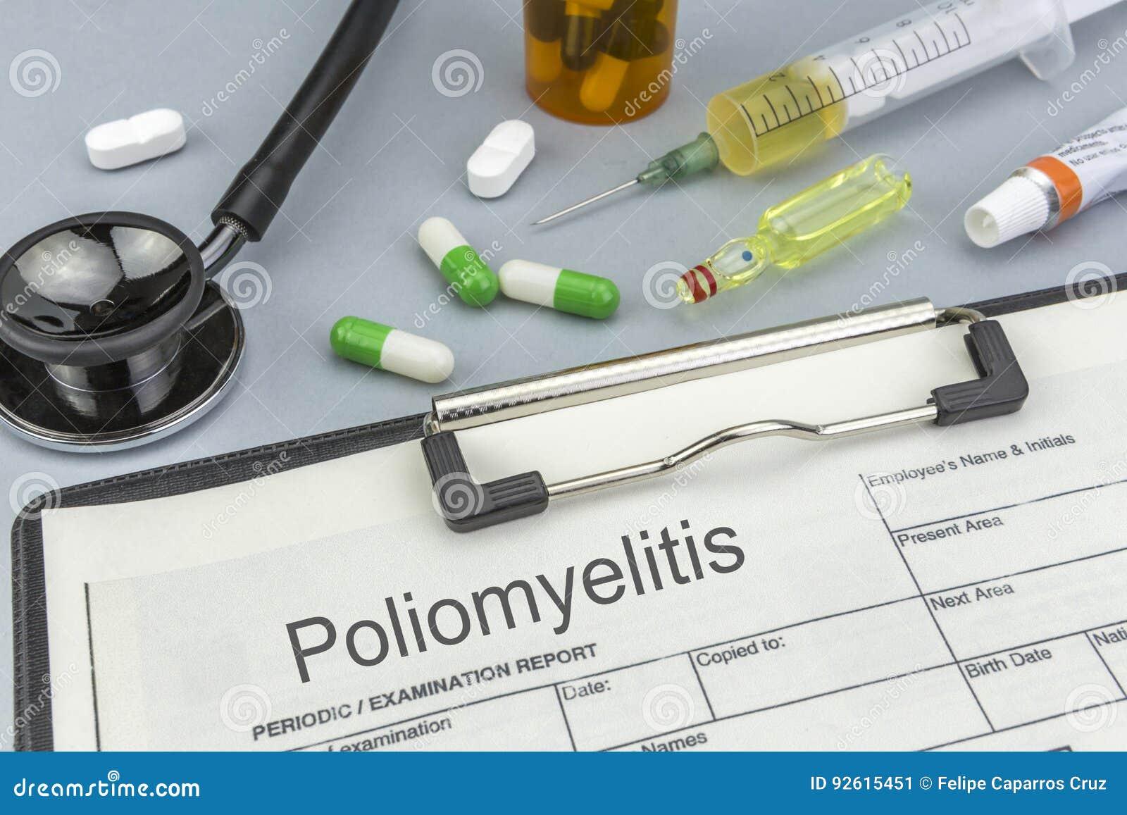 小儿麻痹症、医学和注射器作为概念