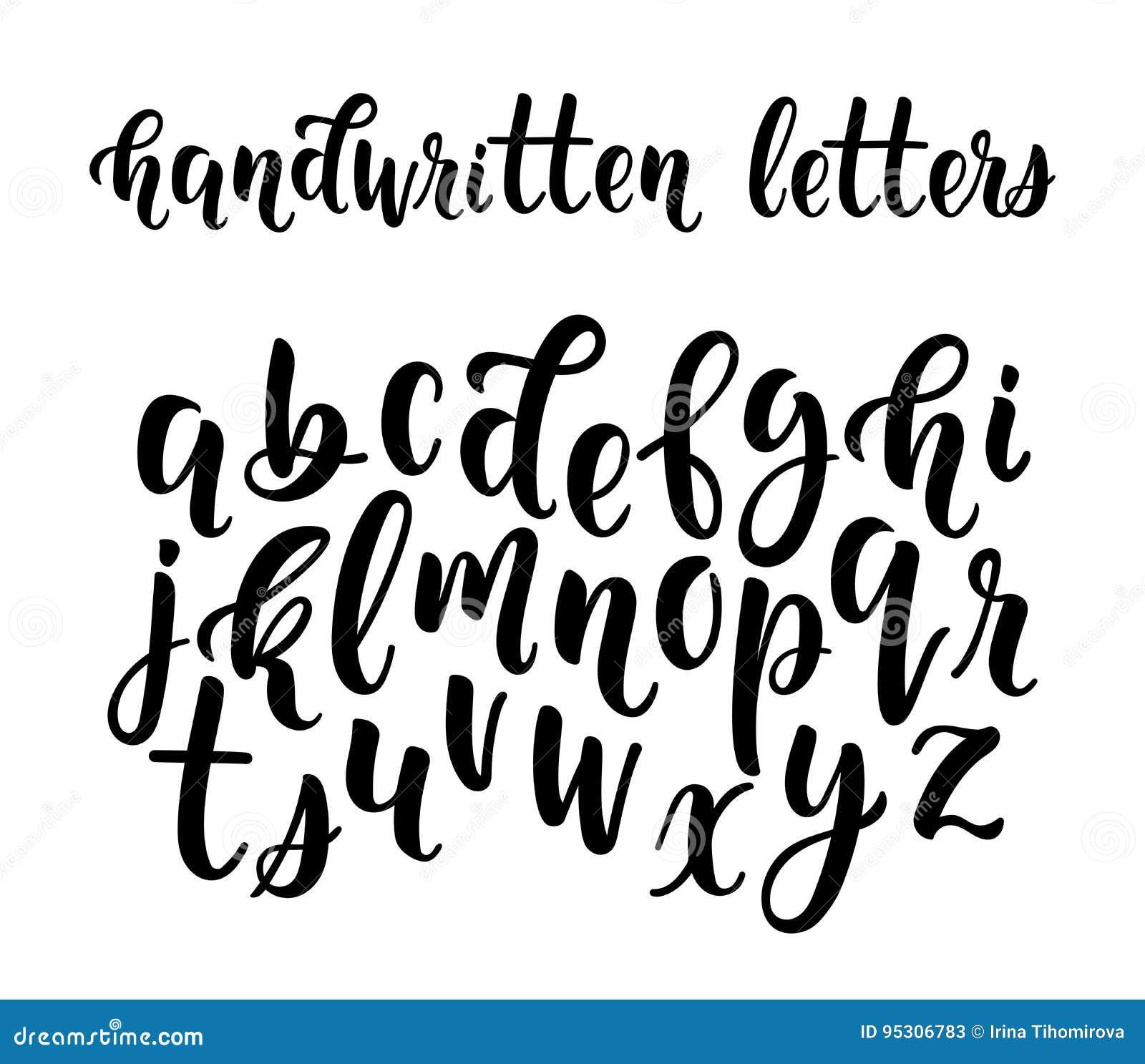 小写字母手写的拉丁书法刷子剧本