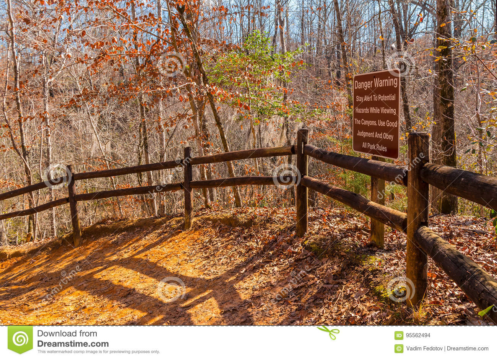 小径和丛林在上帝峡谷国家公园,乔治亚,美国