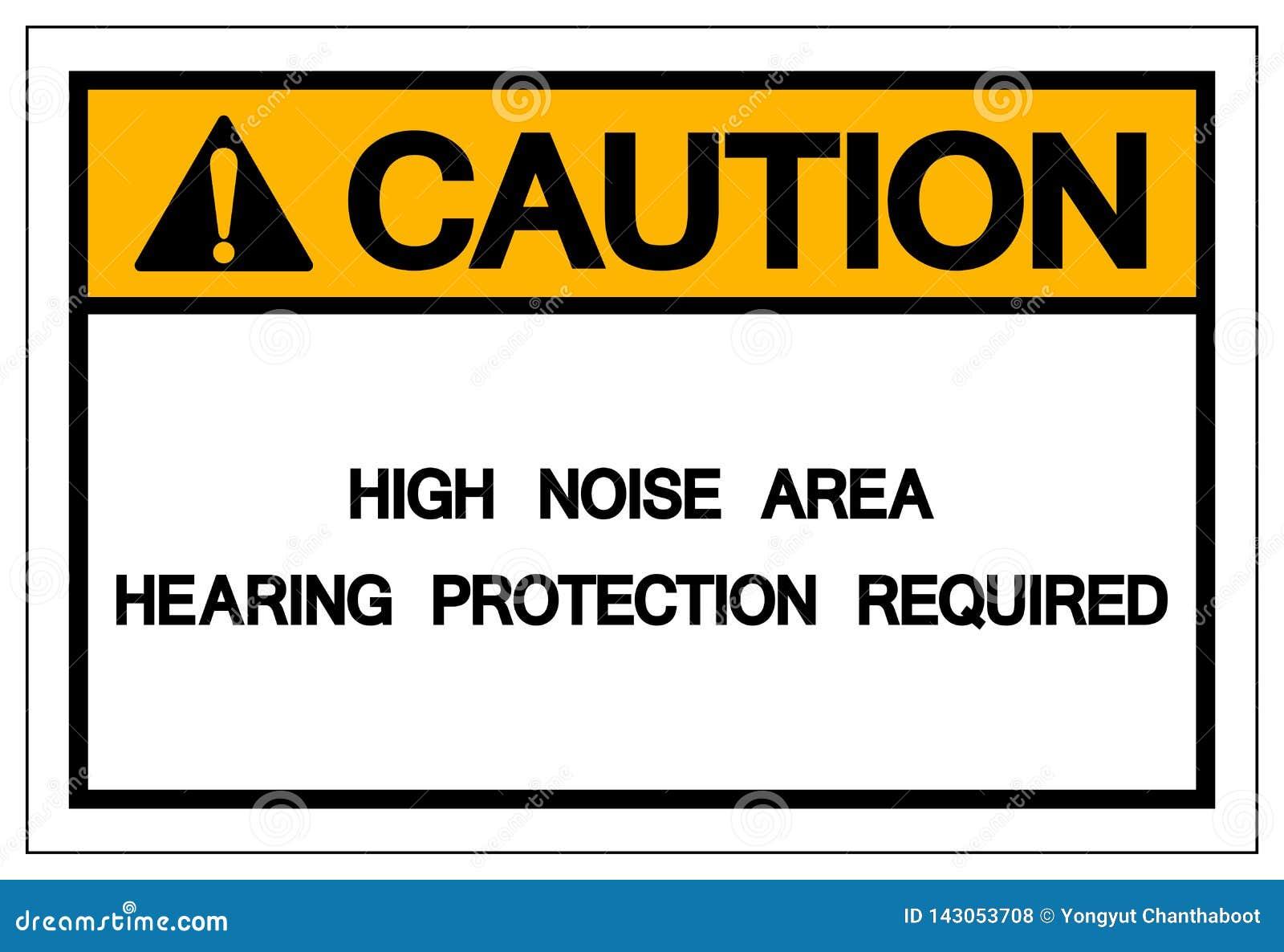 小心高噪音地区听力保护必需的标志,传染媒介例证,孤立白色背景象 EPS10