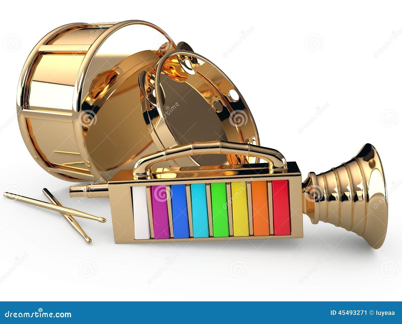 小手鼓、鼓笛和鼓, 3D
