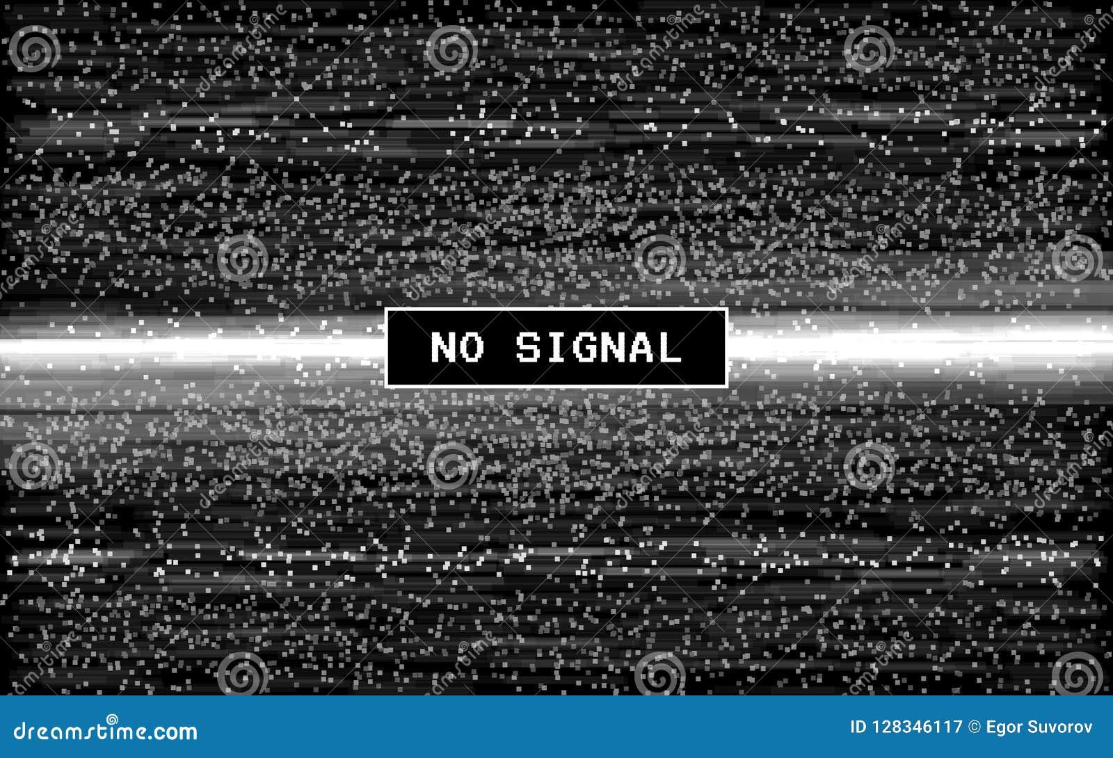 小故障没有信号 减速火箭的VHS作用 在黑背景的映象点数字式噪声 老录影模板 Glitched线路噪声