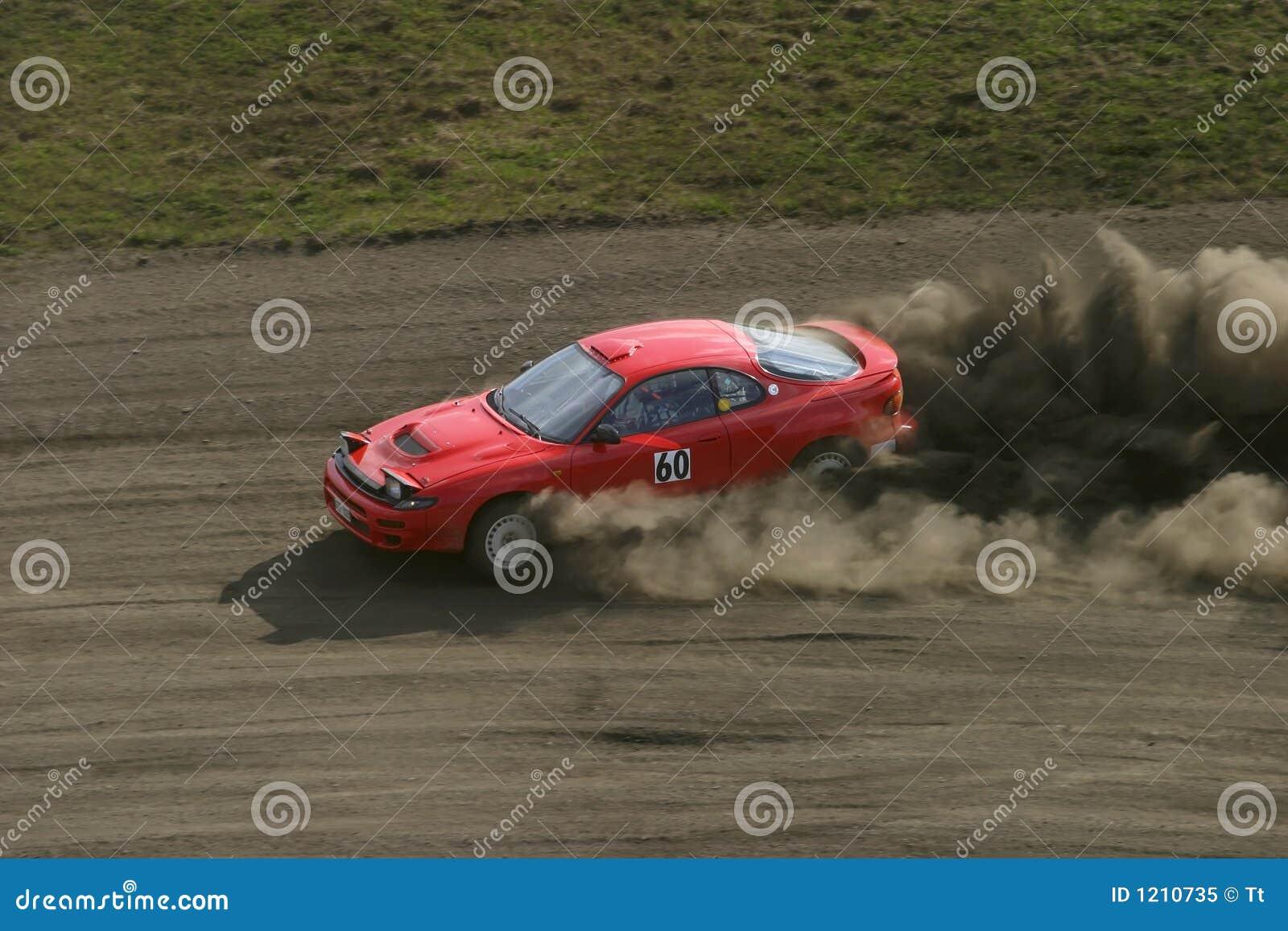 小汽车赛红色