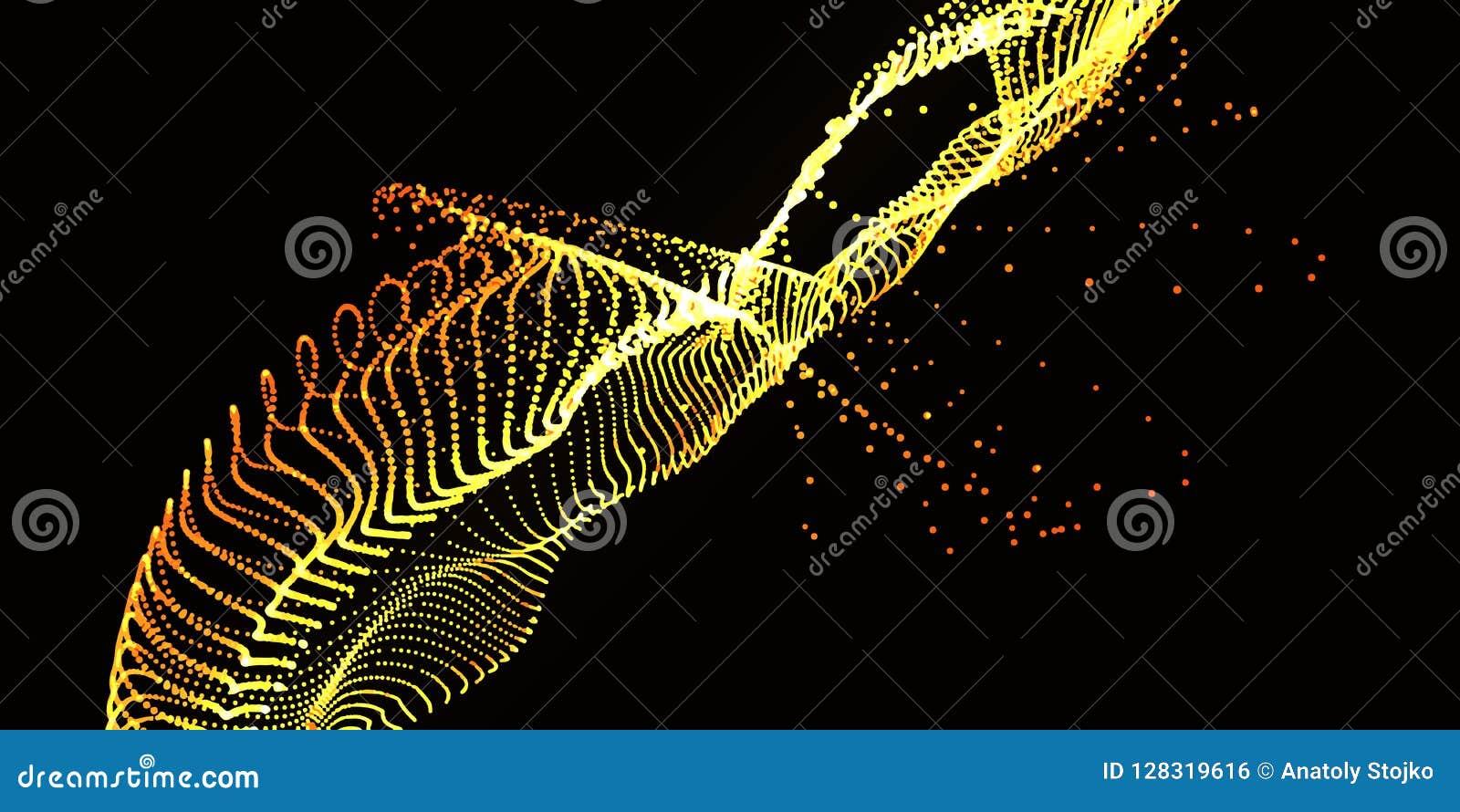 小点噪声波浪  抽象数字式颜色背景 未来ba