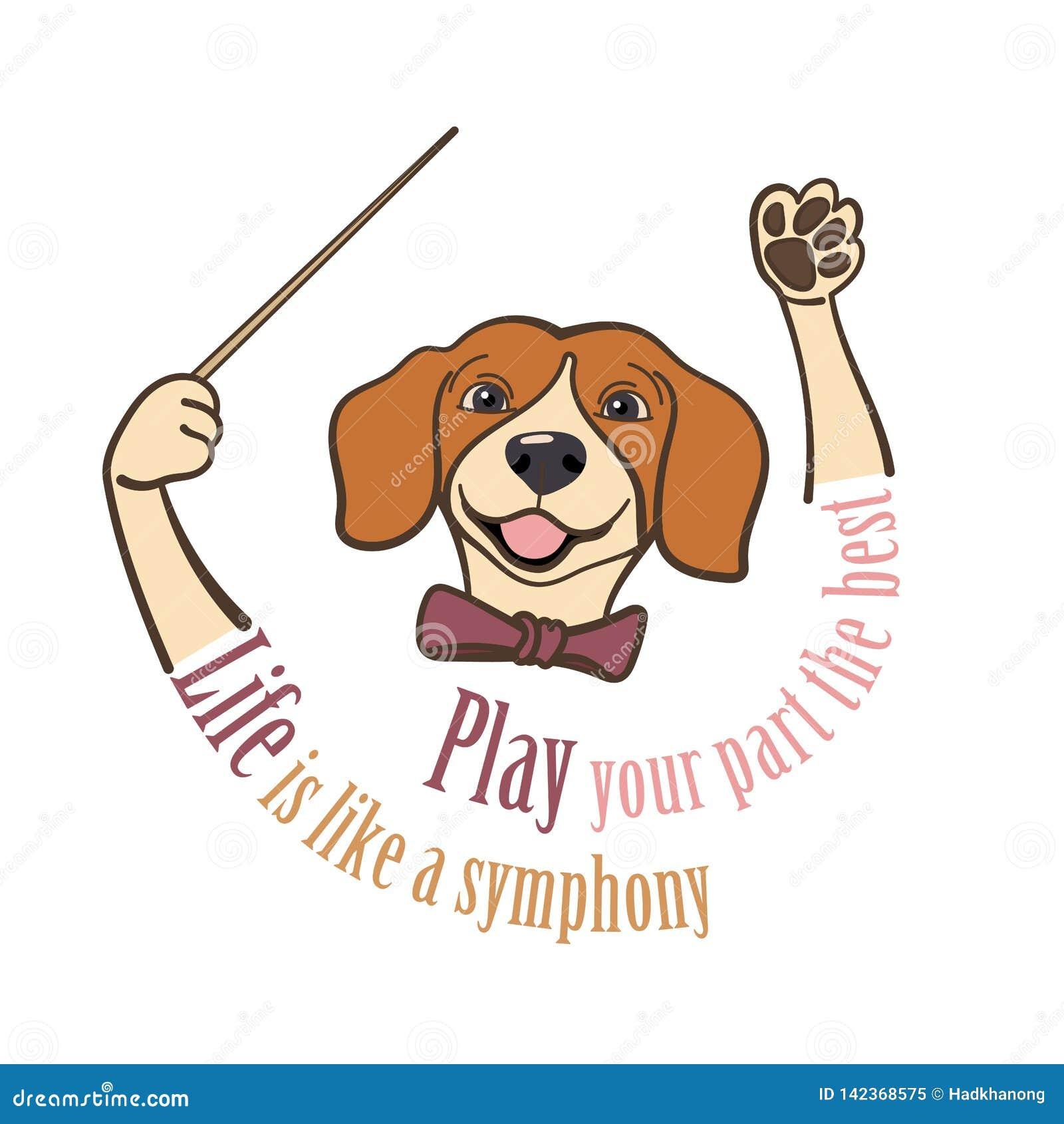 小猎犬,音乐指挥递拿着有口号的警棒