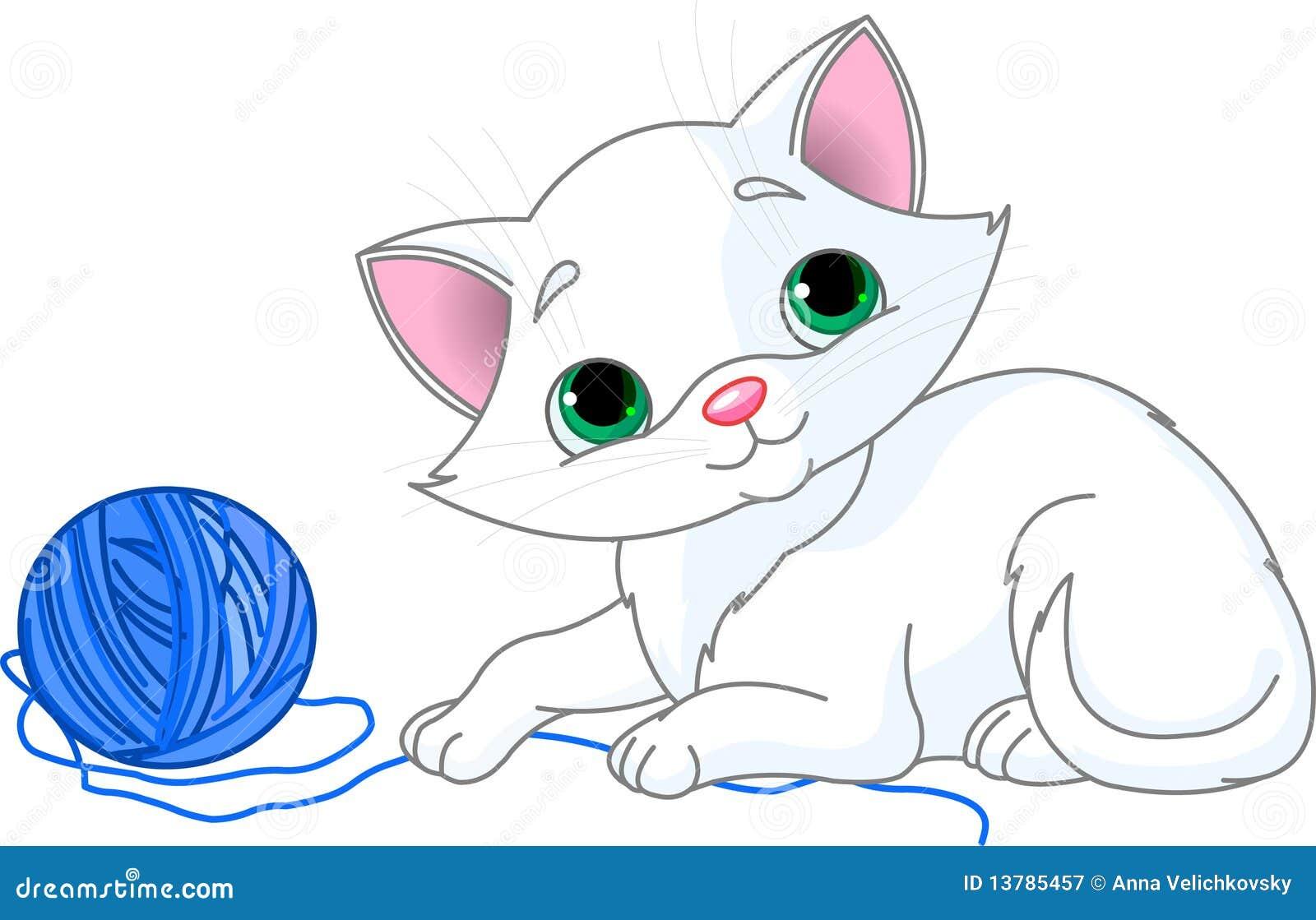 小猫嬉戏的白色