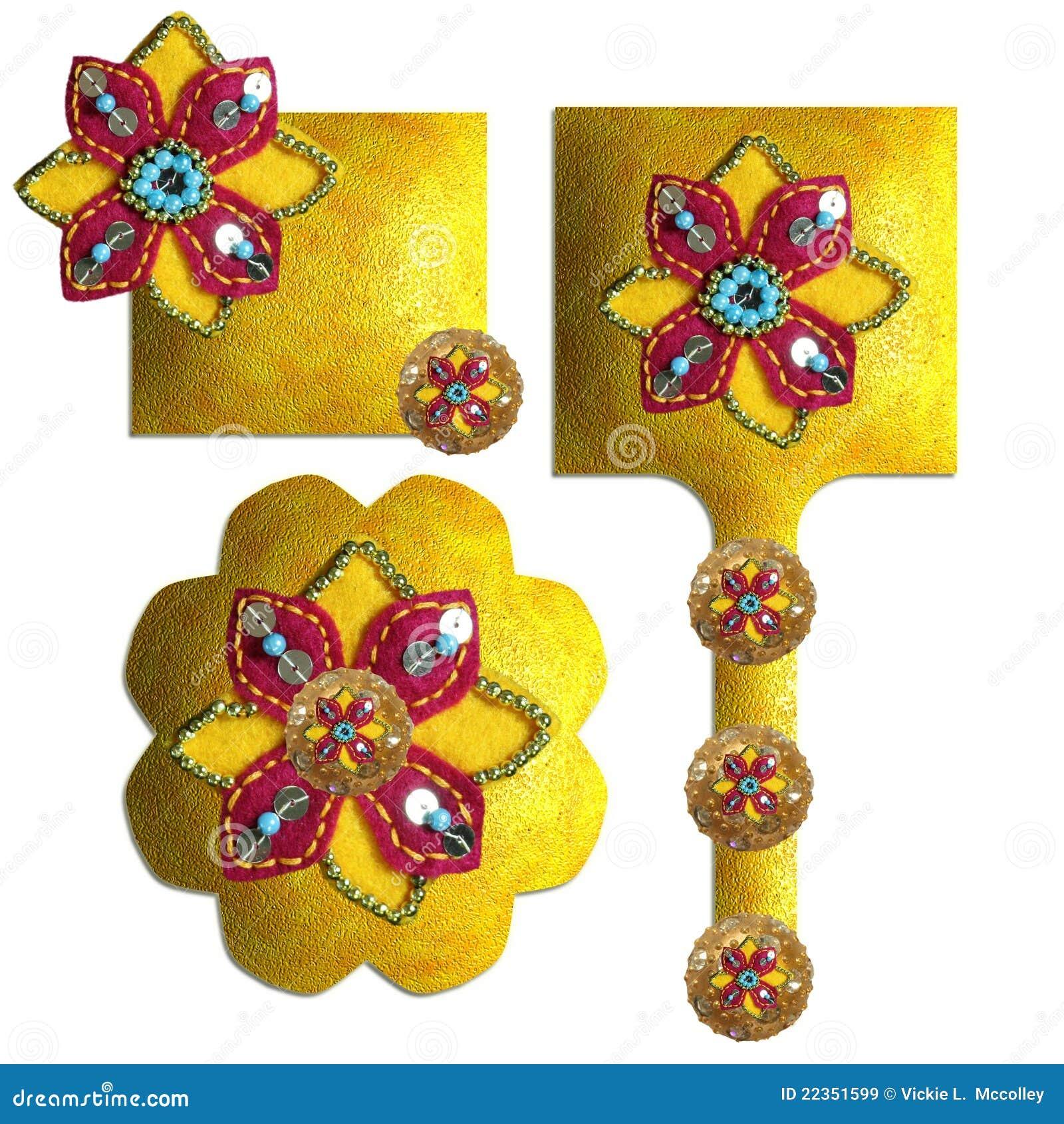 小珠装饰了衣服饰物之小金属片
