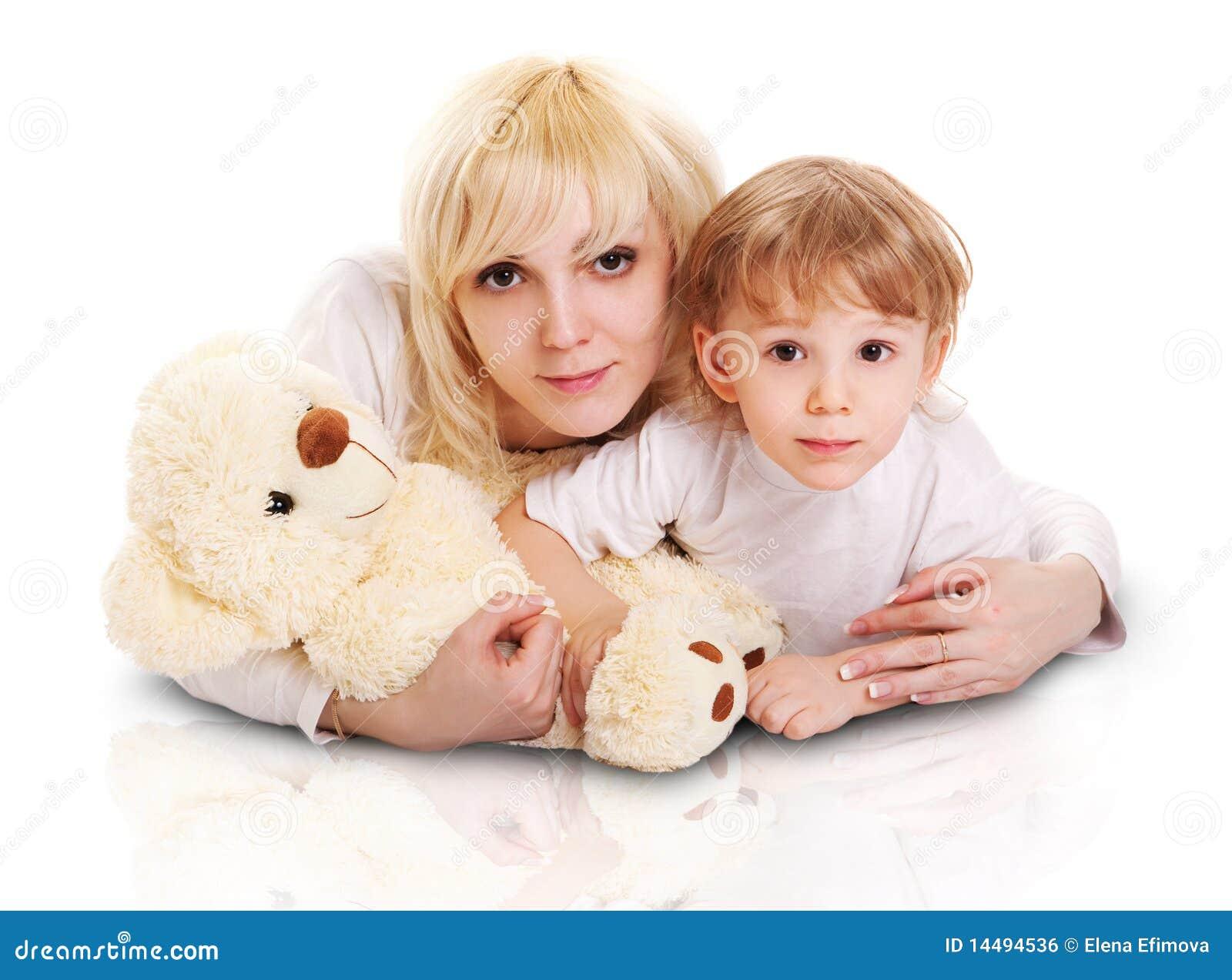小的母亲儿子年轻人