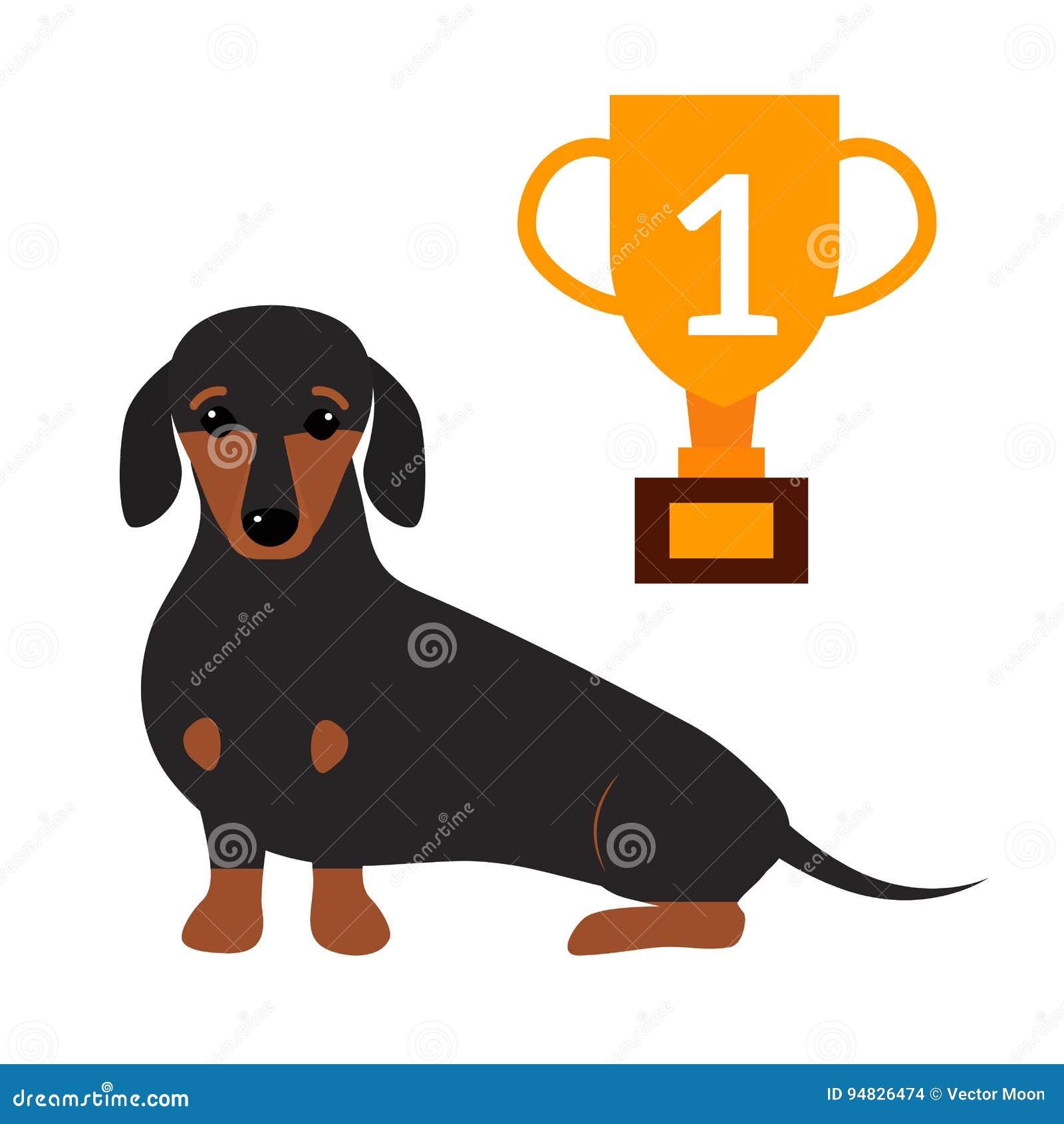 小的达克斯猎犬小狗逗人喜爱的棕色纯血统哺乳动物的甜狗年轻有来历动物品种传染媒介例证