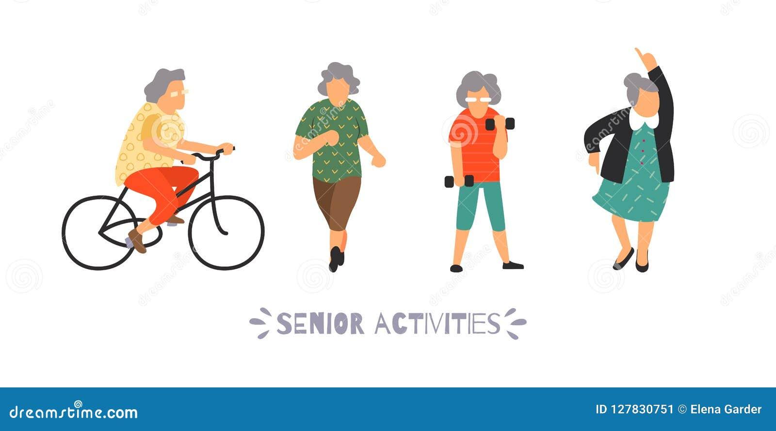 小组老年人向体育求助 被设置的资深室外活动 休闲和休闲年长人概念
