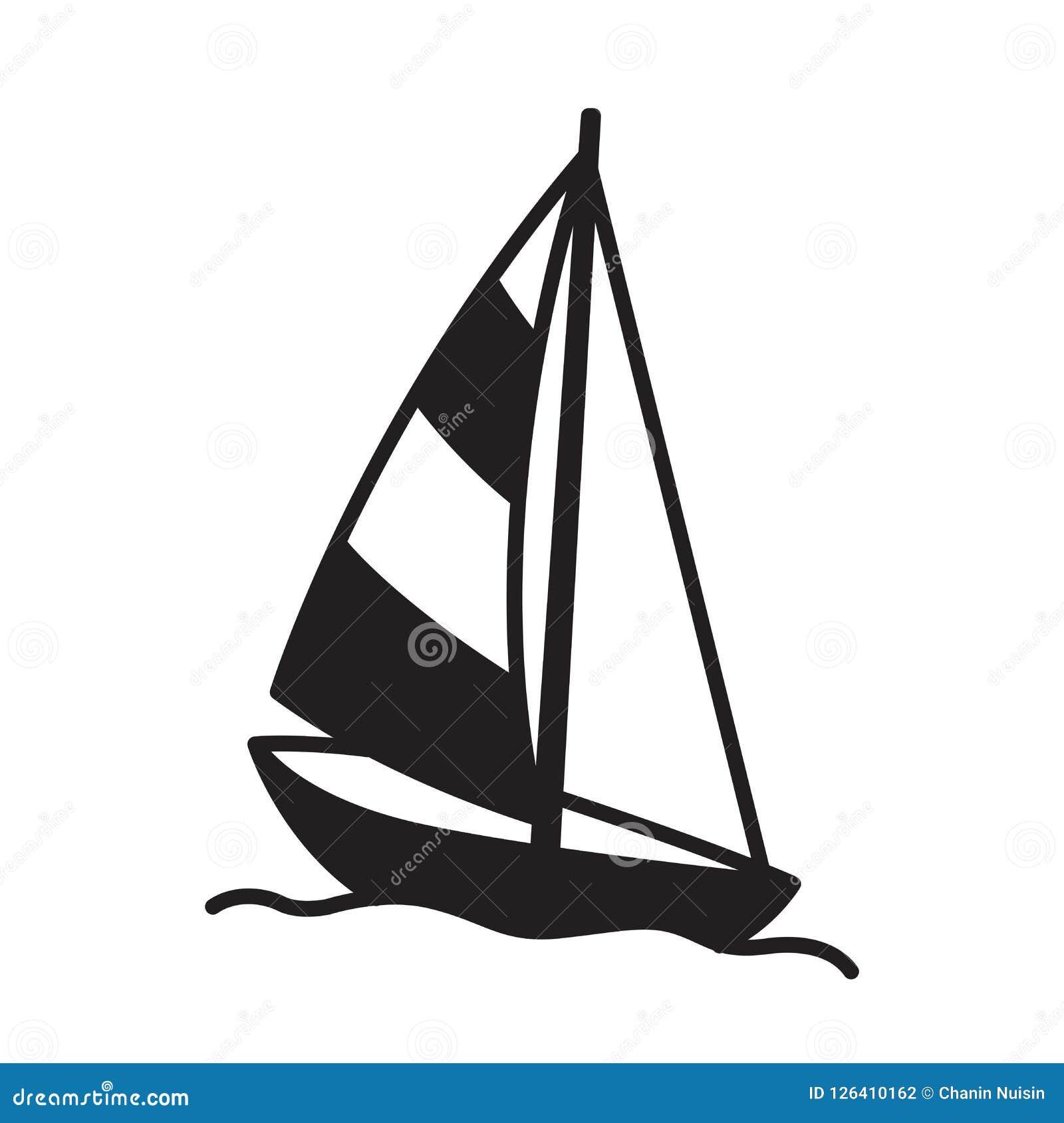 小船传染媒介象商标风船游艇船锚舵灯塔海船舶热带例证