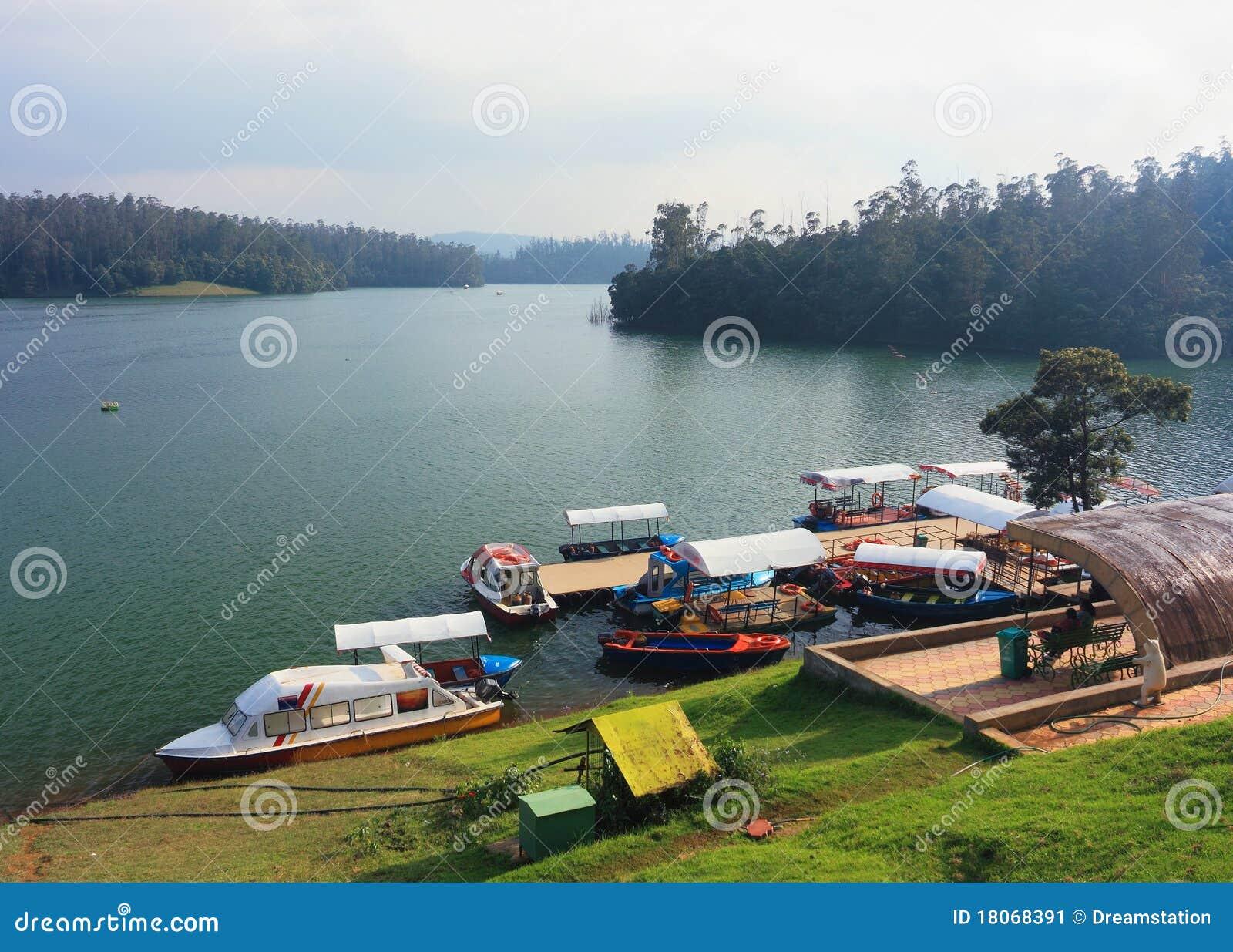 小船印度湖pykara