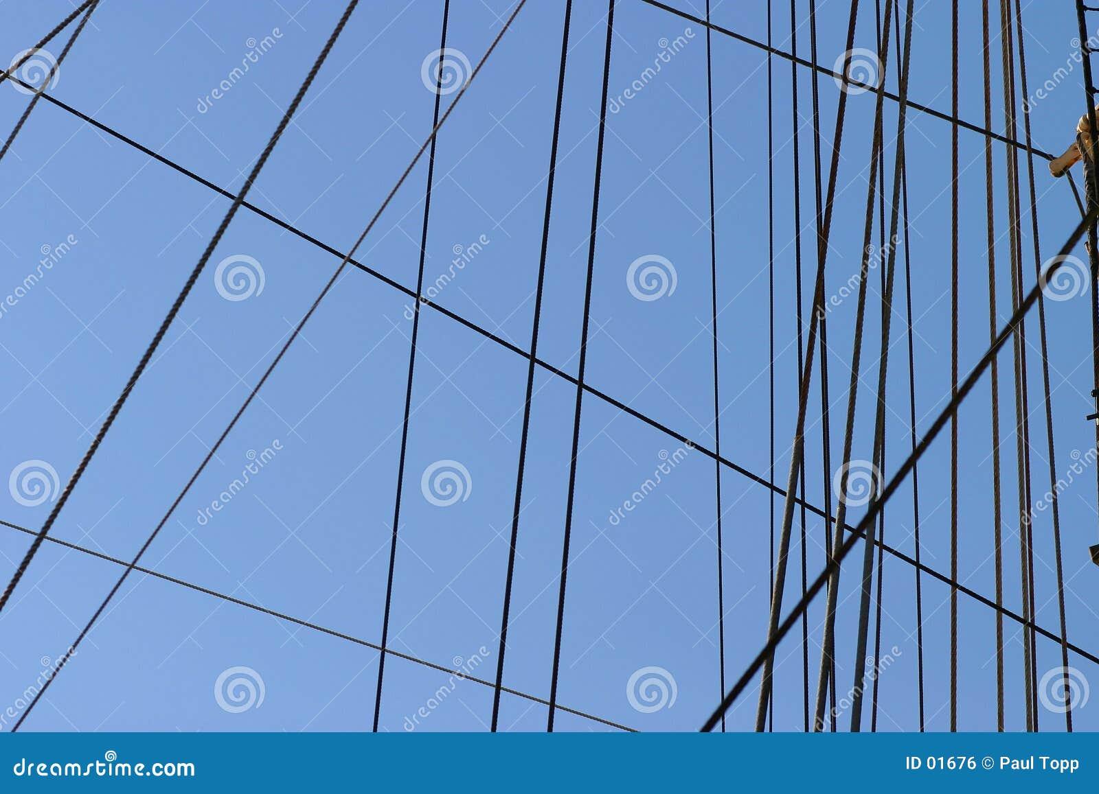小船帆柱索具绳索