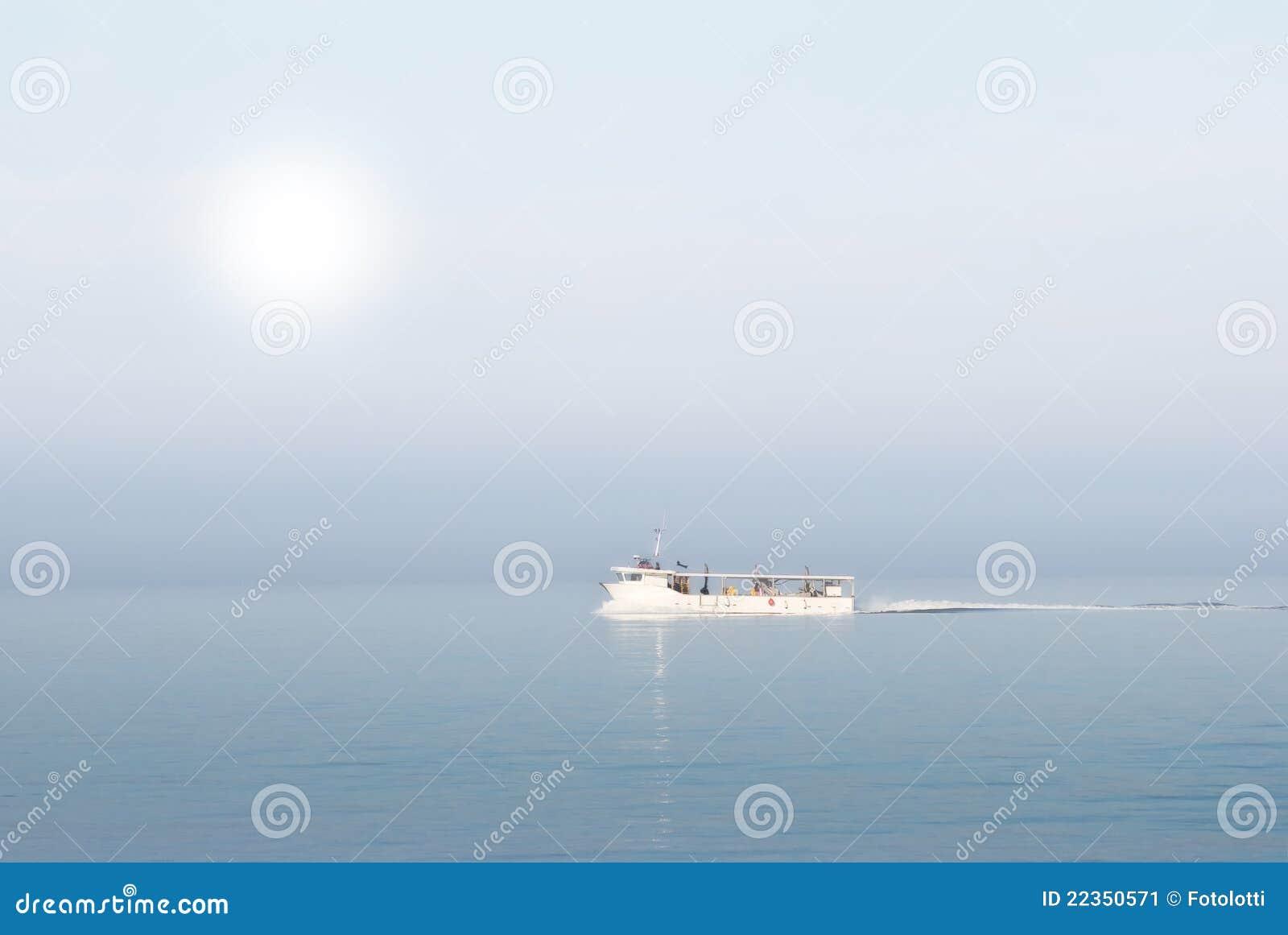 小船捕鱼海运