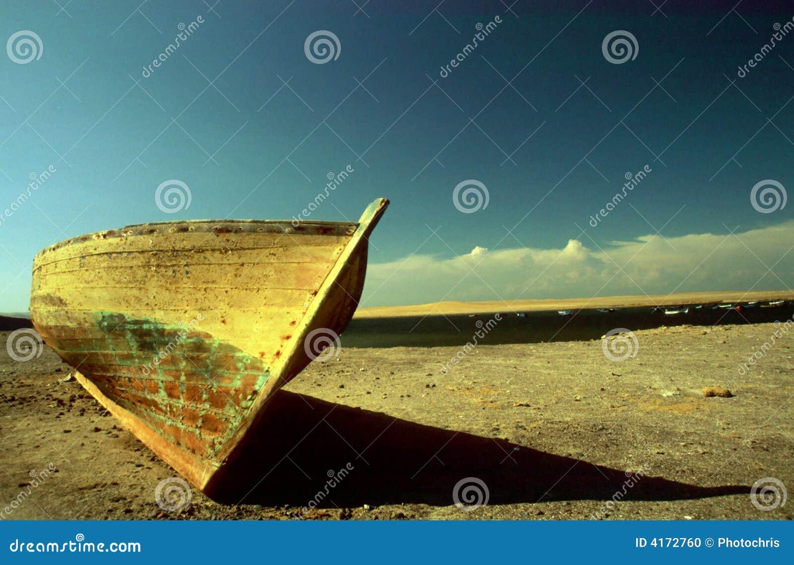 小船沙漠捕鱼