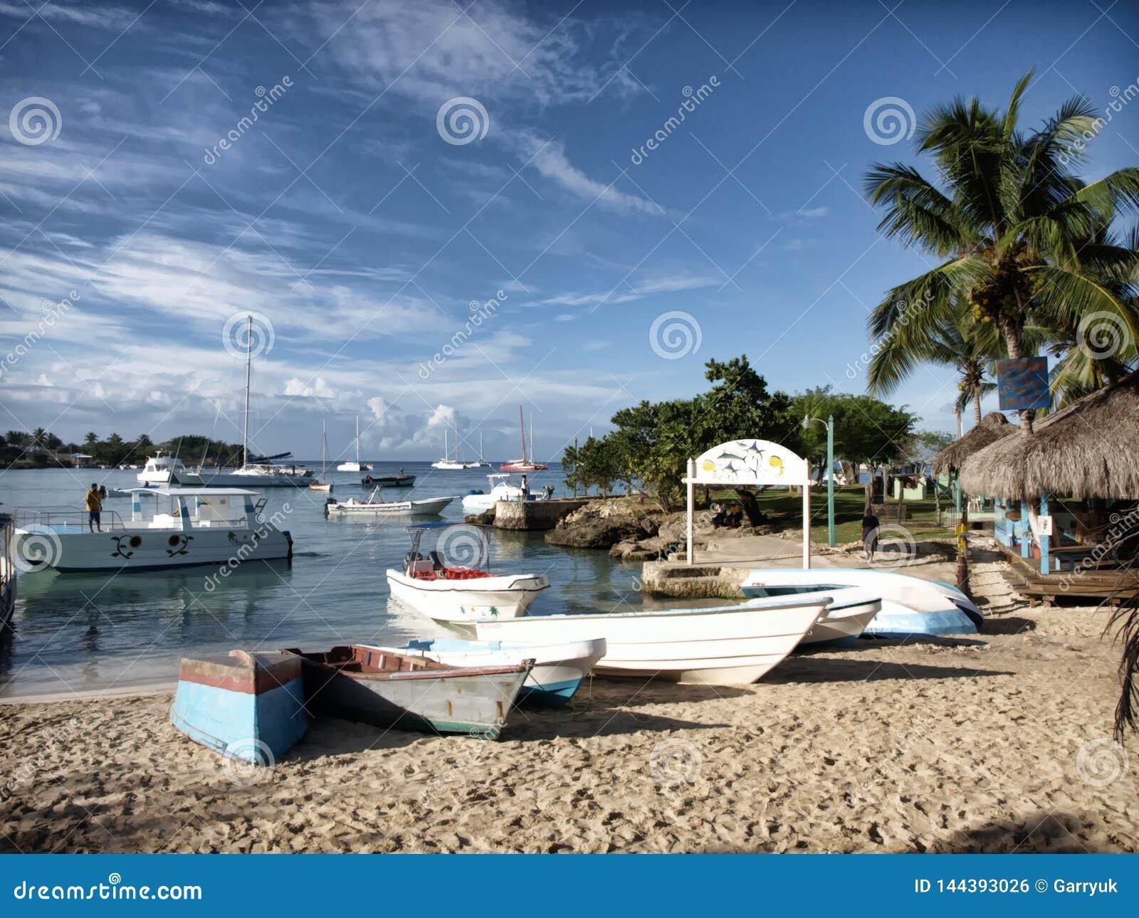 小船的一个加勒比着陆点