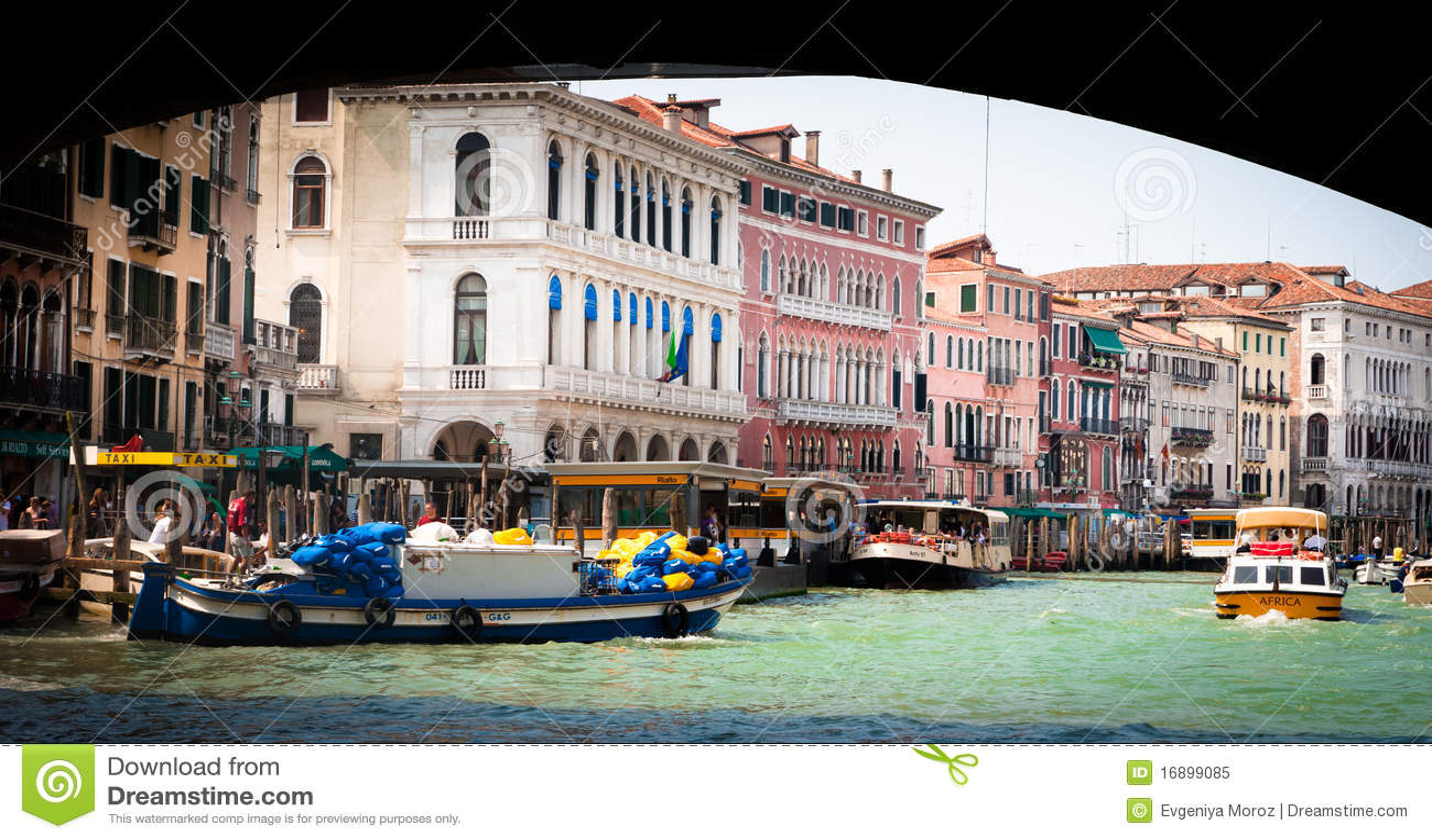 小船运河全部威尼斯