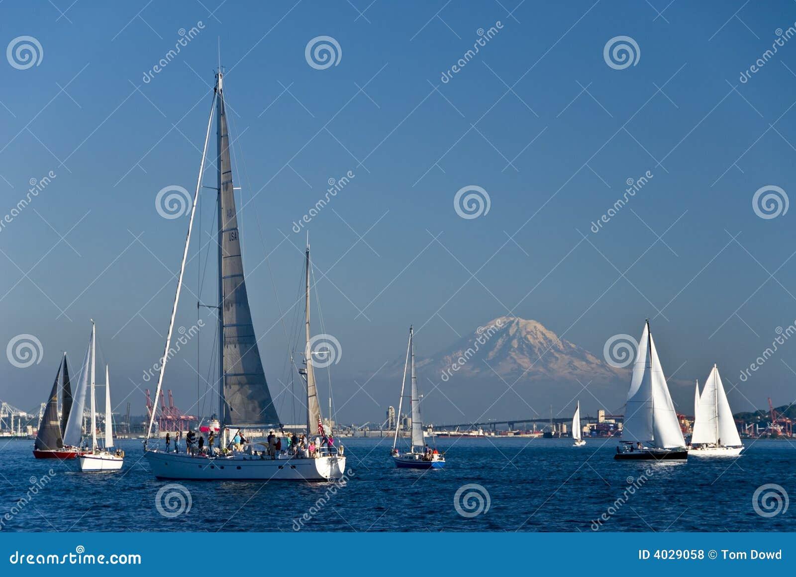 小船风帆西雅图