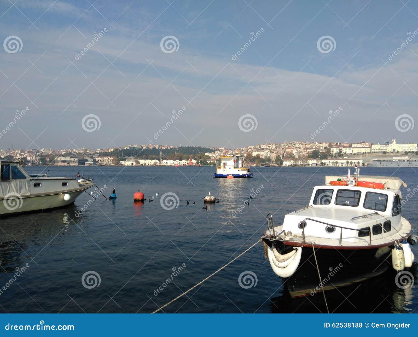 小船, goldenhorn,土耳其,伊斯坦布尔