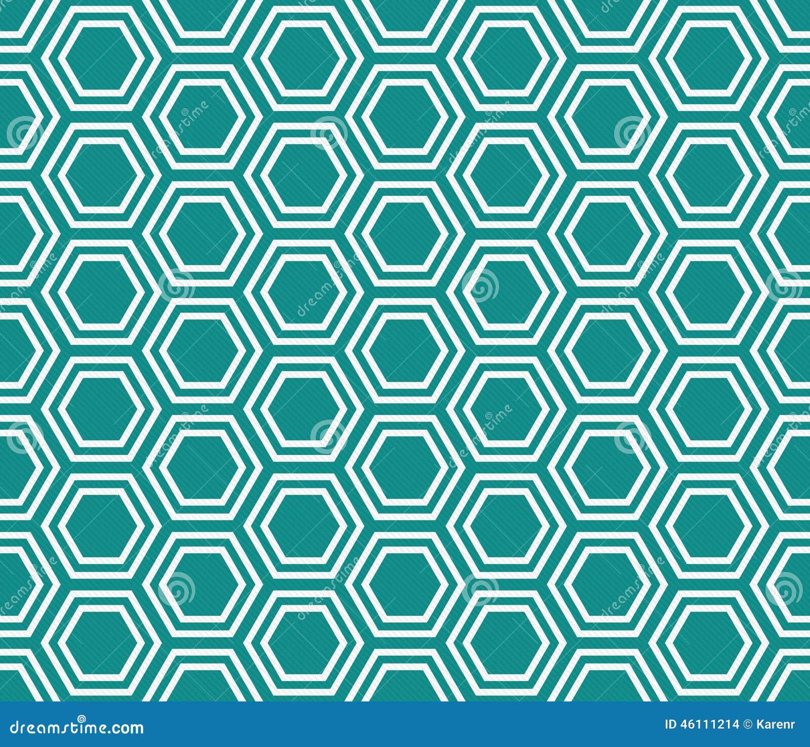 小野鸭和白色六角形瓦片样式重复背景
